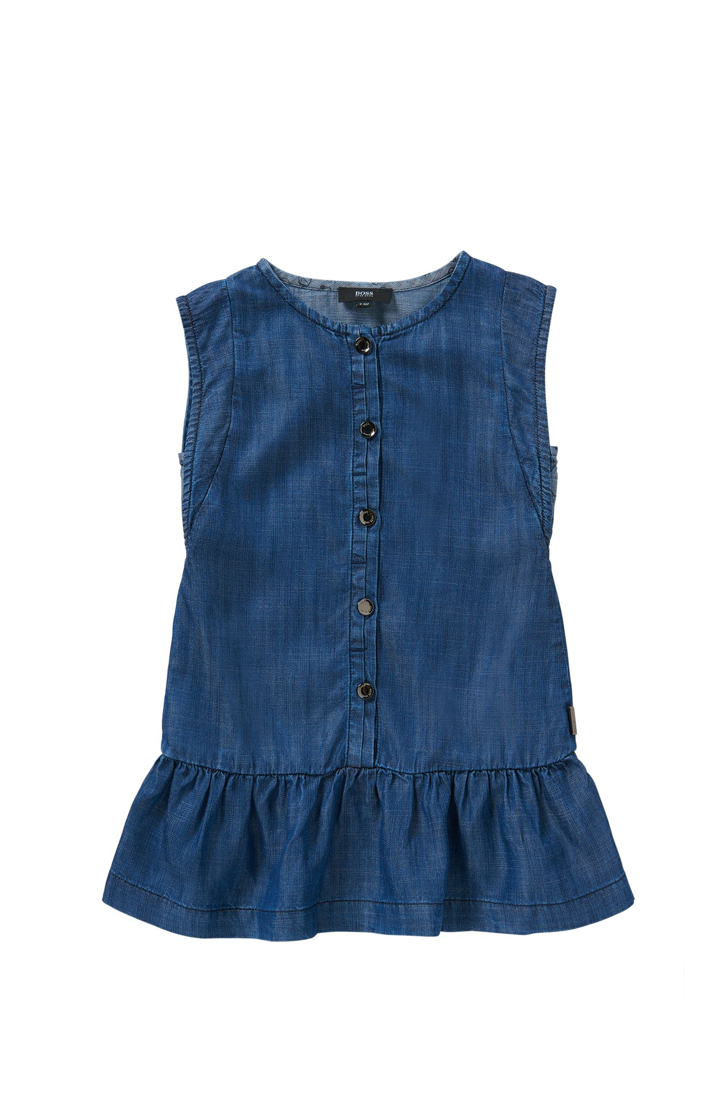 Kinderjurk in een denimlook: 'J12149'