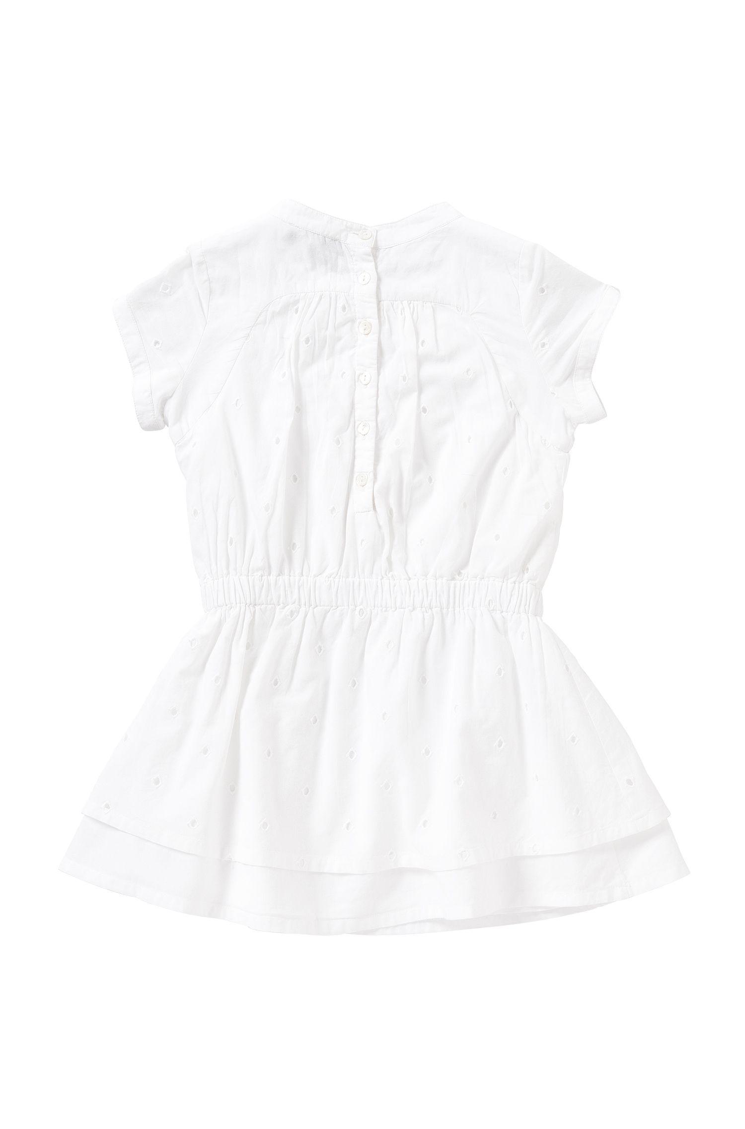 Kids-Kleid aus Baumwolle mit Gummizug: 'J12150'