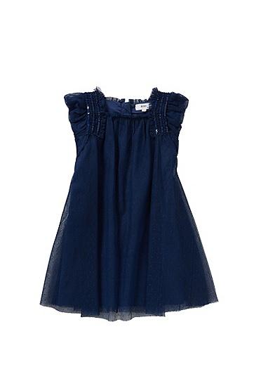 Kids-Kleid mit Pailletten-Applikation: 'J12151', Dunkelblau