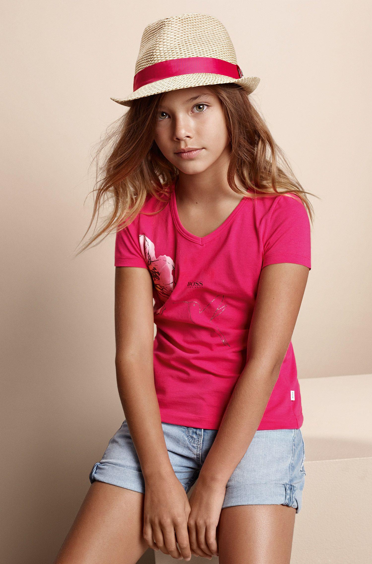 Short en jean pour enfant «J14136» en coton mélangé