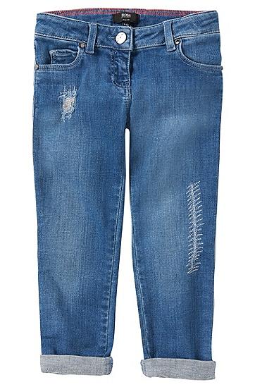 Slim-Fit Jeans aus Baumwoll-Mix: 'J14155', Blau