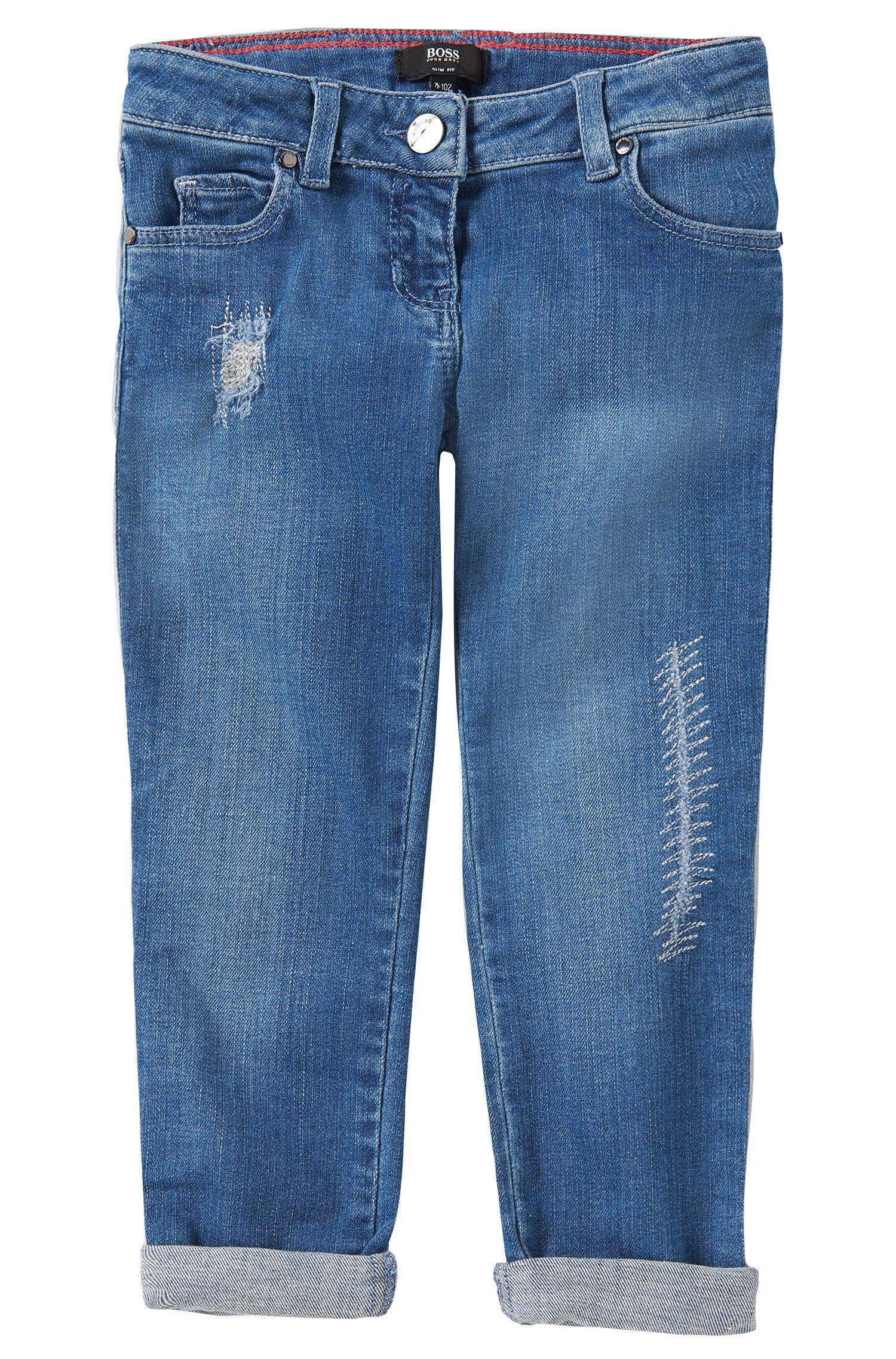 Jeans Slim Fit en coton mélangé: «J14155»