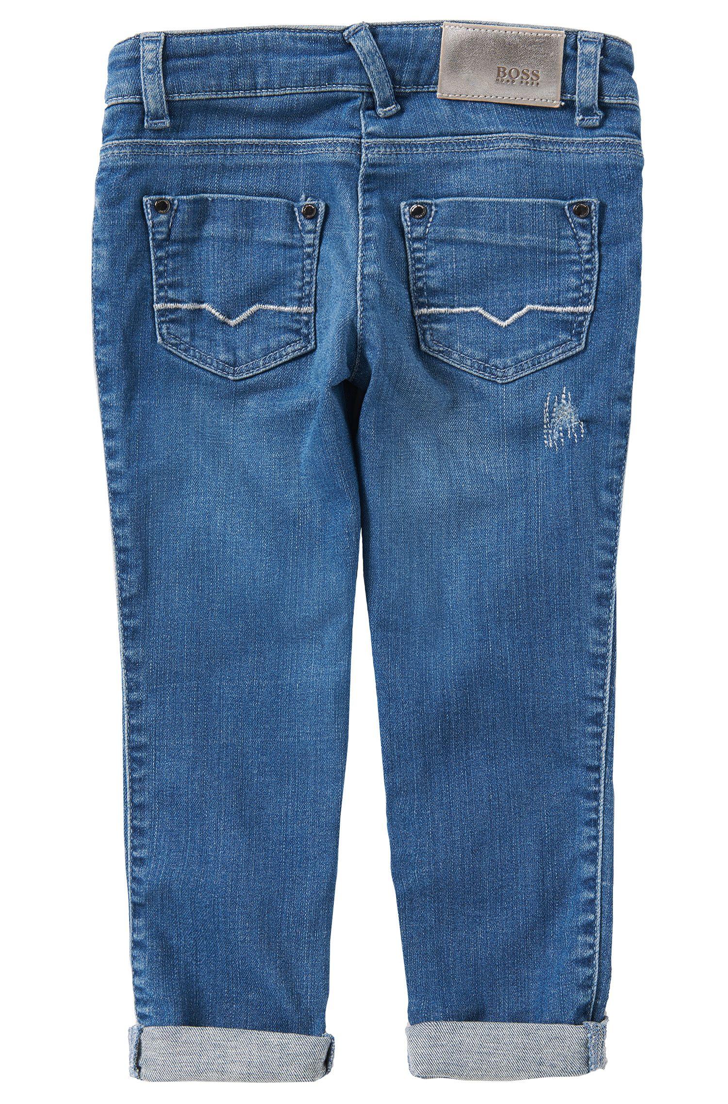 Slim-fit jeans van een katoenmix: 'J14155'