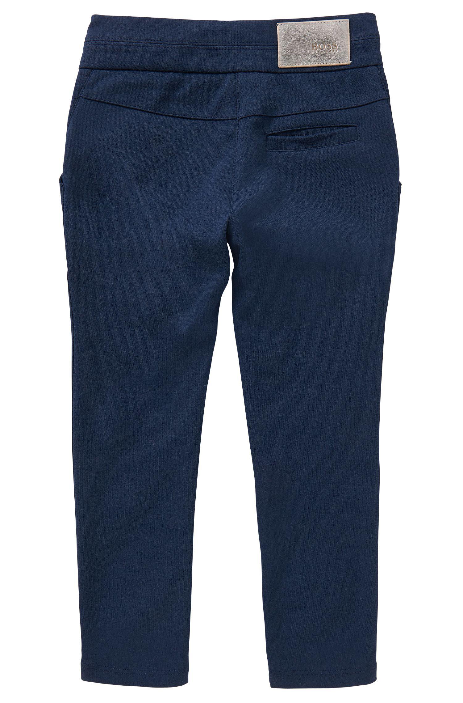 Pantalon sweat en coton mélangé à teneur en stretch: «J14157»