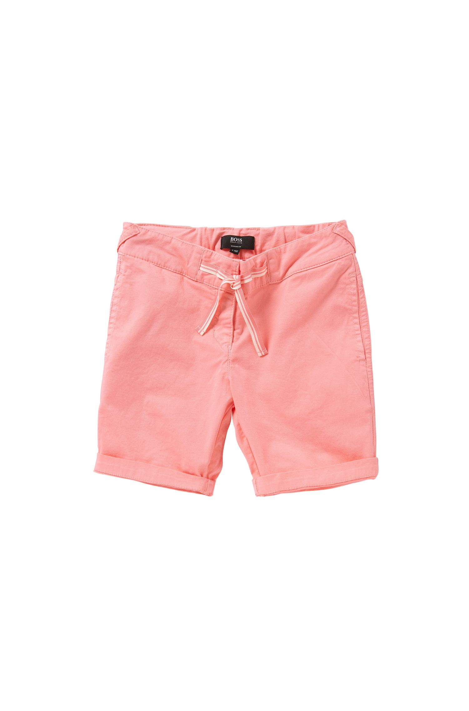 Regular-fit kids' shorts with bow detail: 'J24410'
