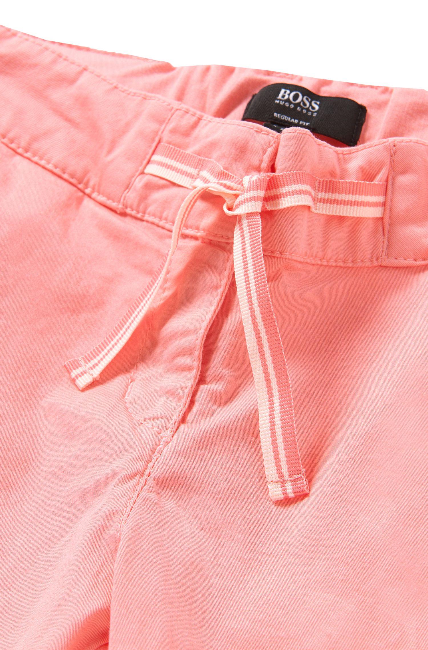 Regular-Fit Kids-Shorts aus Baumwolle mit Schleifen-Detail: 'J24410'