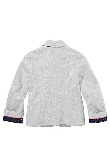 Kids-Jersey-Blazer ´J15285` aus Baumwoll-Mix, Hellgrau