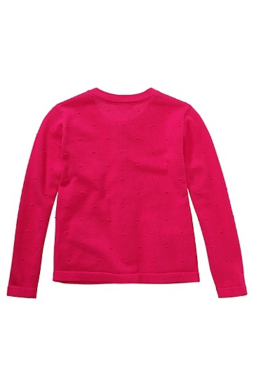 Kids-Strickjacke ´J15288` aus Baumwolle, Dunkelrosa
