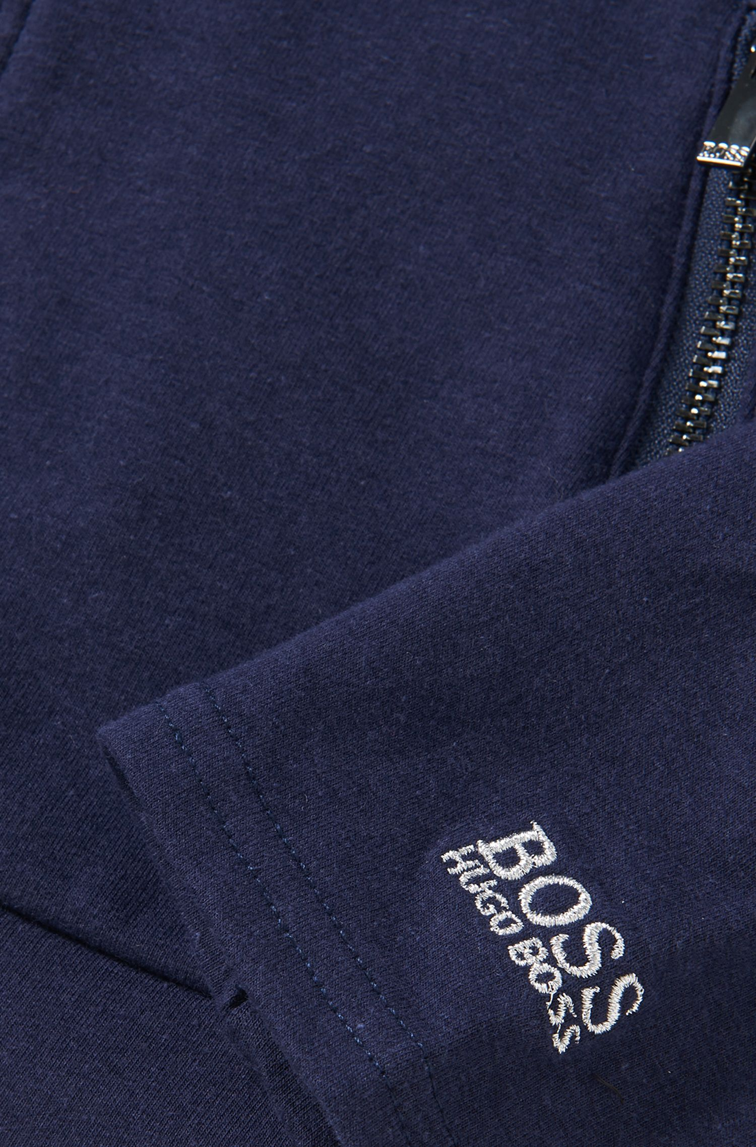 Kapuzen-Sweatshirt-Jacke aus elastischem Viskose-Mix mit Bauwollanteil: 'J15321'
