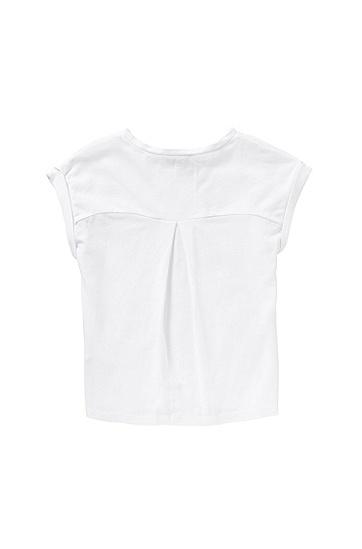 Kids-T-Shirt aus Stretch-Baumwolle mit Front-Print: 'J15337', Weiß