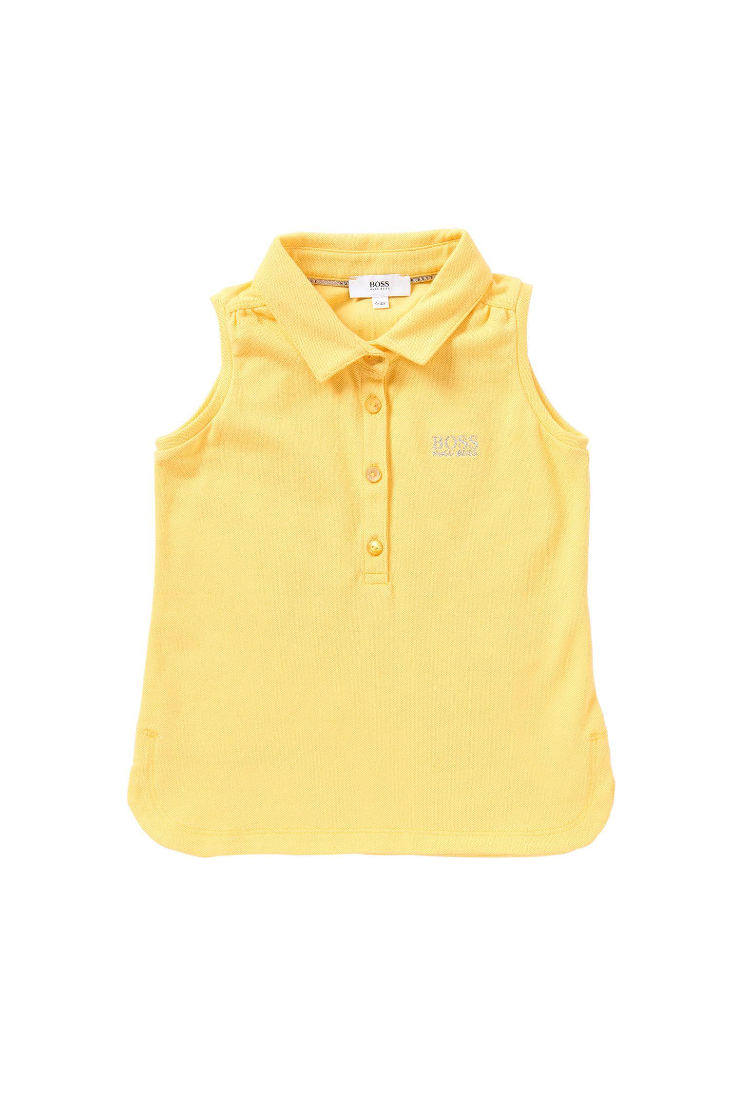 Ärmelloses Kids-Poloshirt aus Stretch-Baumwolle: 'J15344'