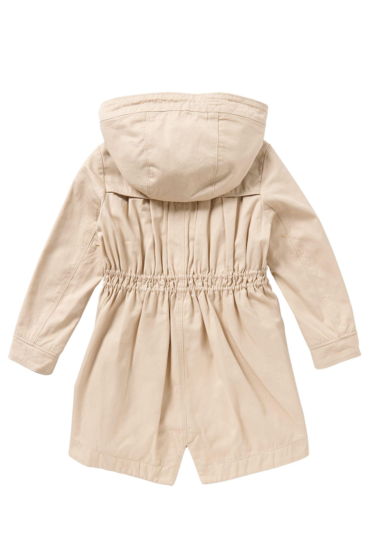 Taillierter Kids-Mantel aus Baumwolle: 'J16127'