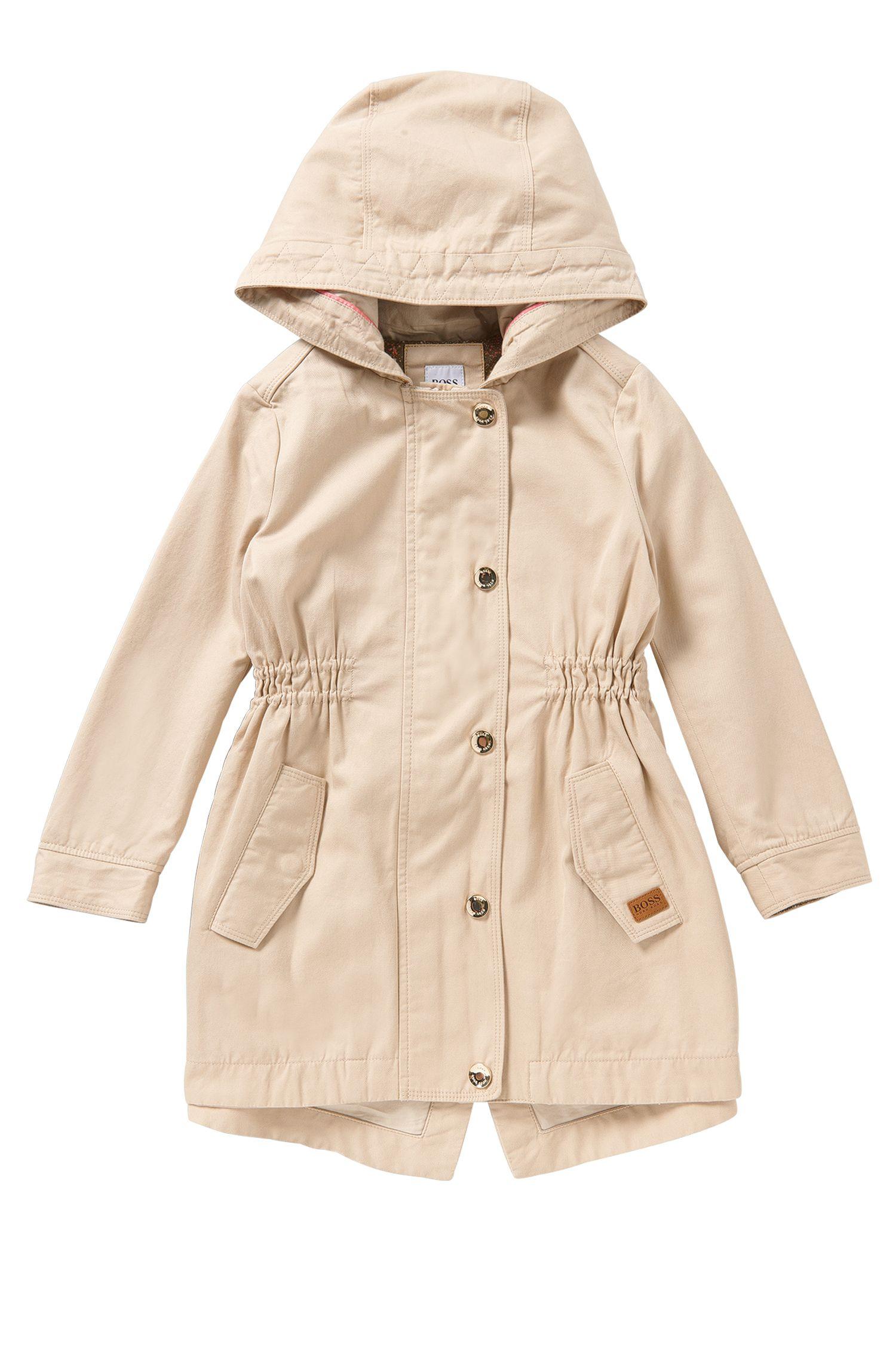 Cappotto da bambina sciancrato in misto cotone: 'J16127'