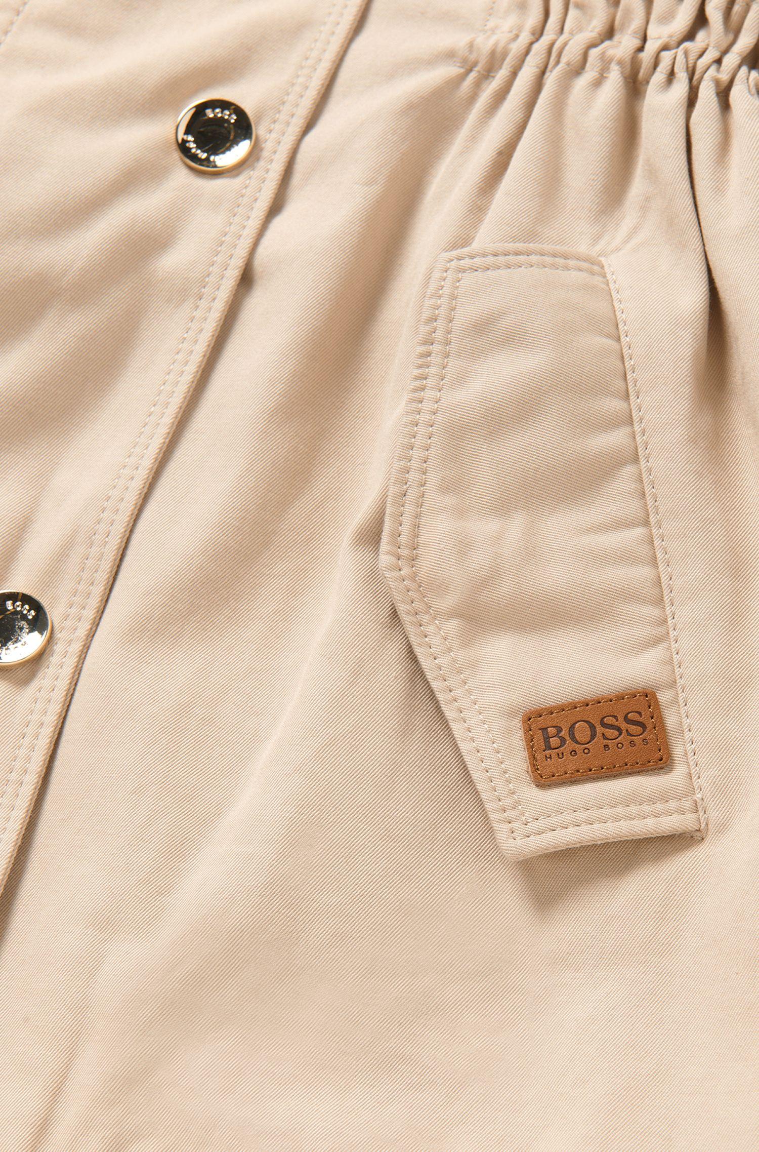 Manteau pour enfant cintré en coton mélangé: «J16127»