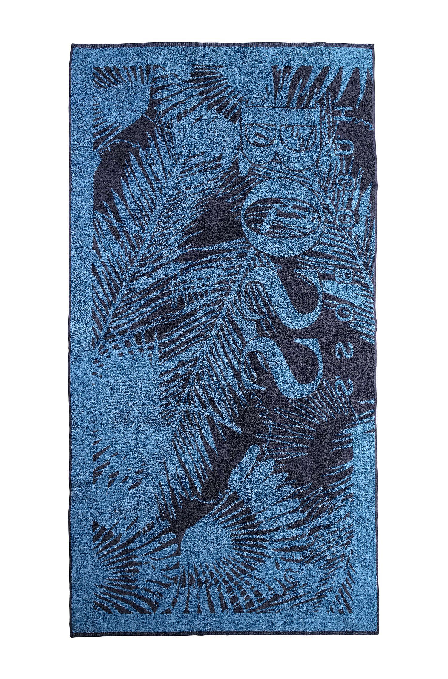 Serviette de plage «J20159» en coton éponge