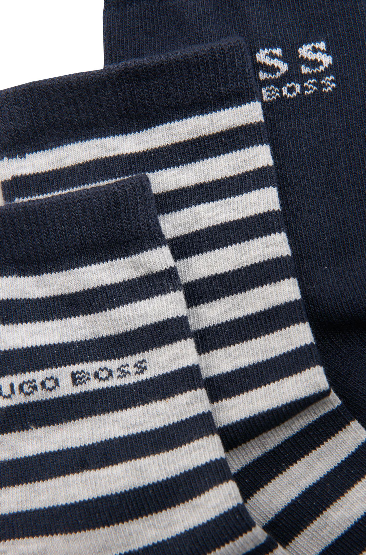 Kids-Socken aus Baumwoll-Mix im Zweierpack: 'J20183'