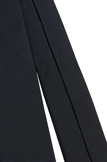Unifarbene Kids-Krawatte aus Seide: 'J20U38', Dunkelblau