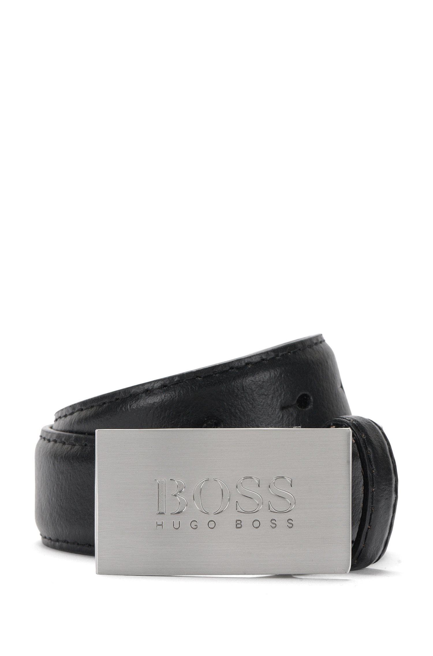 Kids' leather belt with distinctive fastening: 'J20U75'
