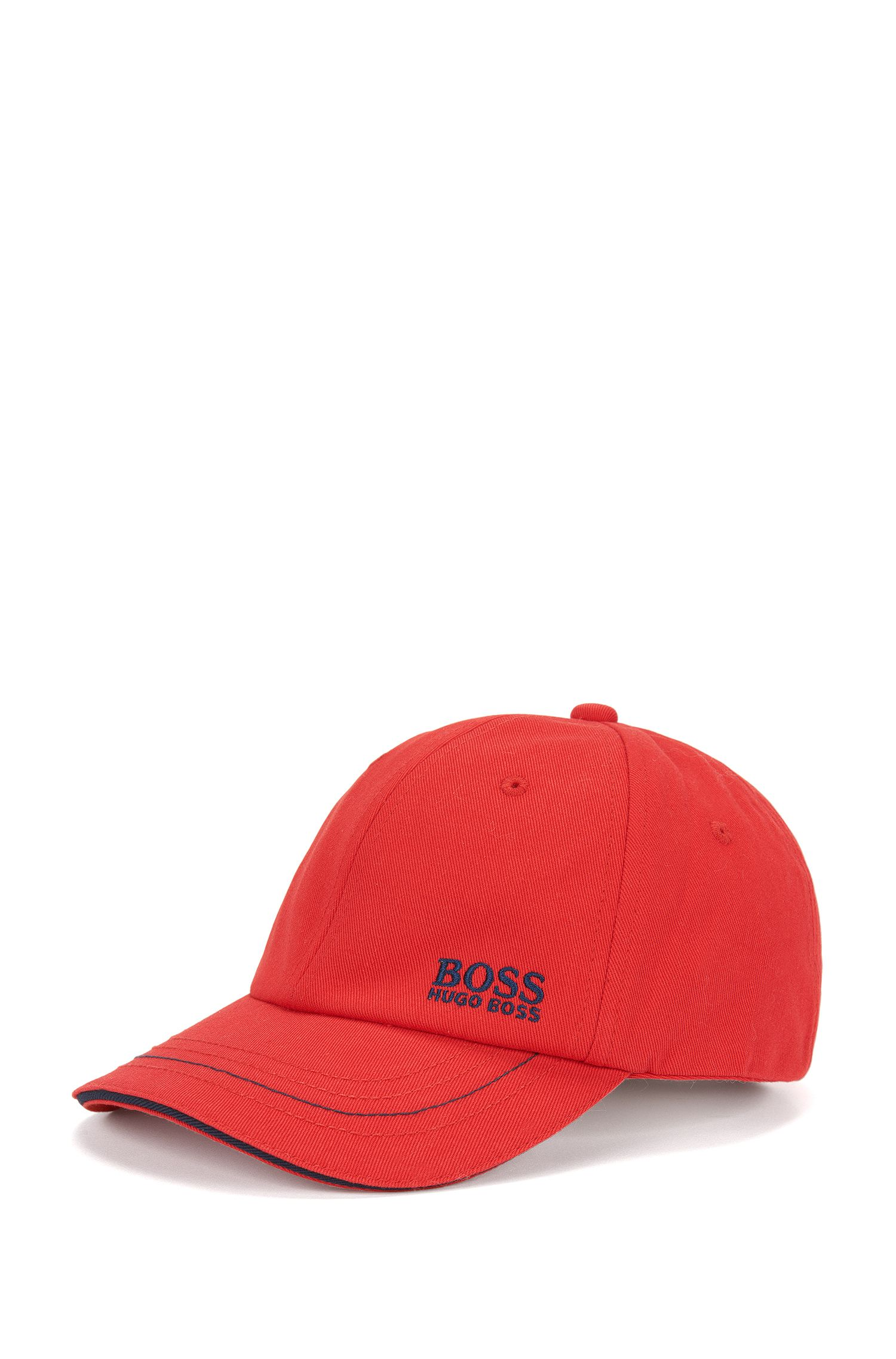Kids' cap in cotton blend with logo lettering: 'J21U53'