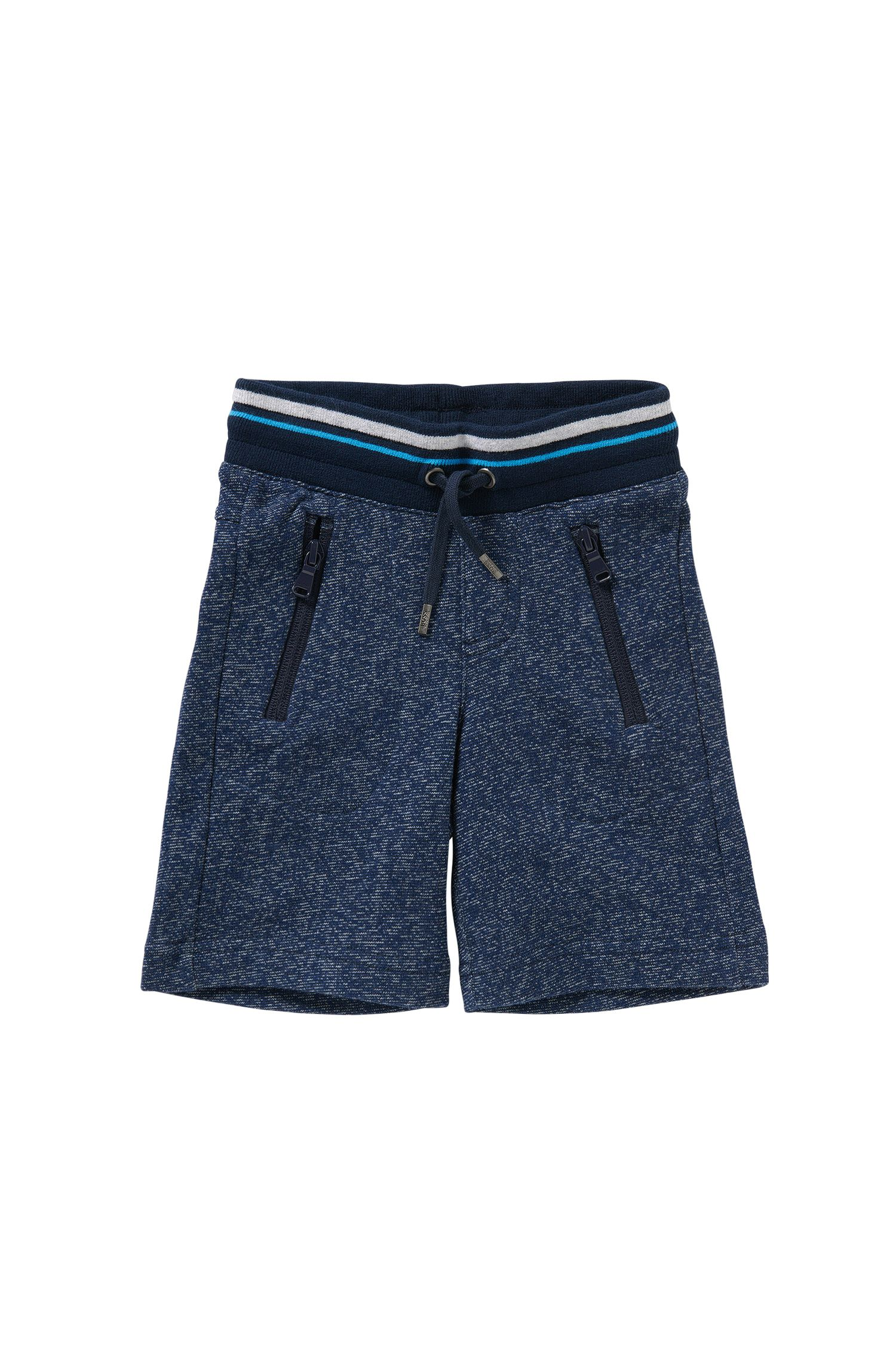 Kids' tracksuit bottoms in cotton with a drawstring: 'J24385'