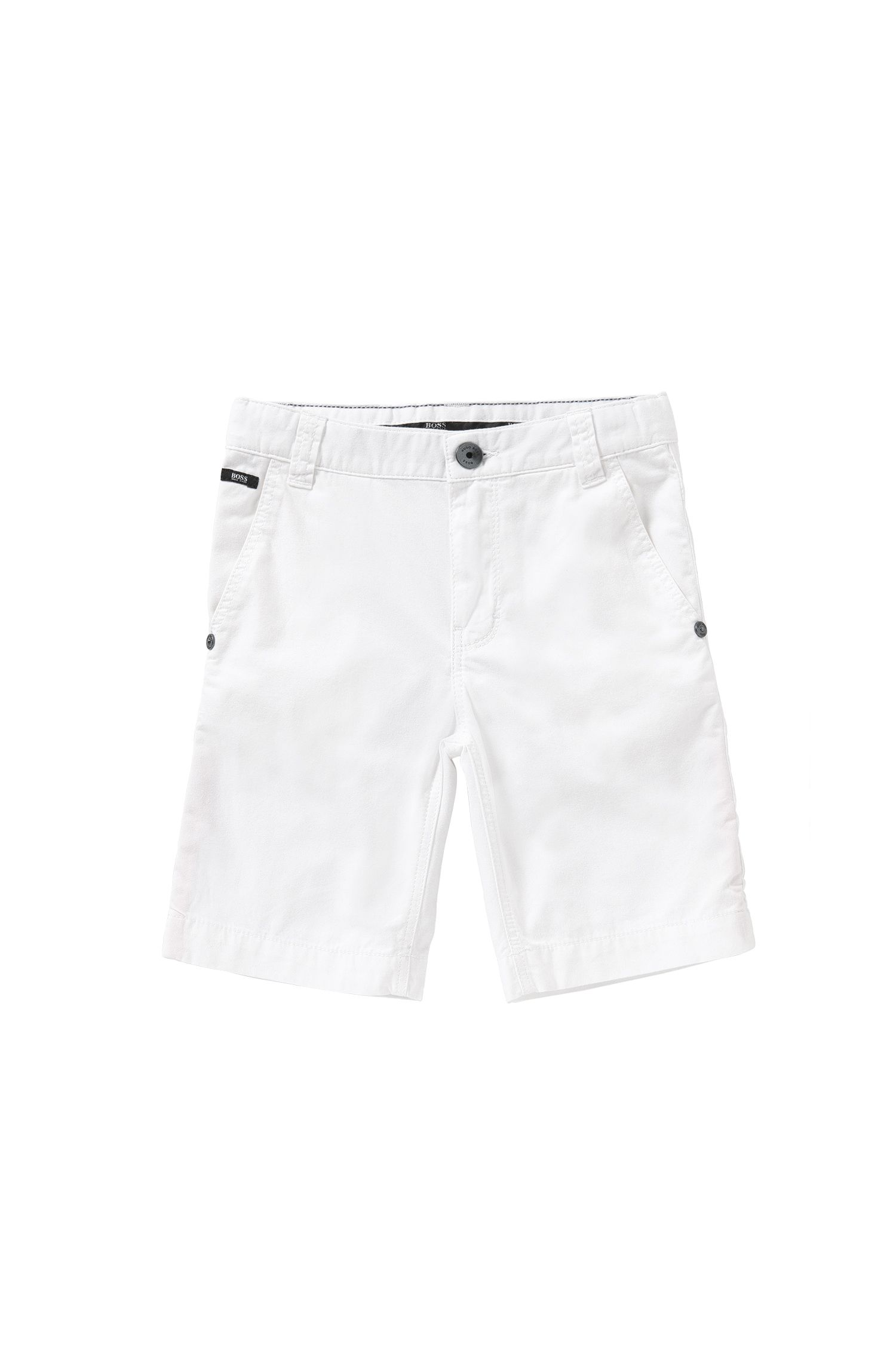Shorts regular fit en algodón puro para niño: 'J24386'