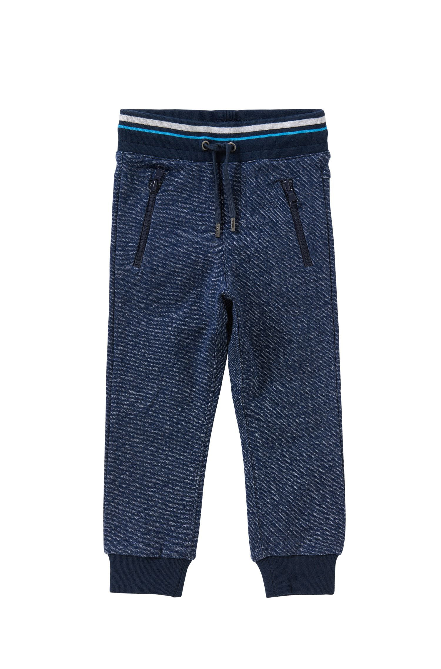 Kids' tracksuit bottoms in cotton with a drawstring waistband: 'J24392'