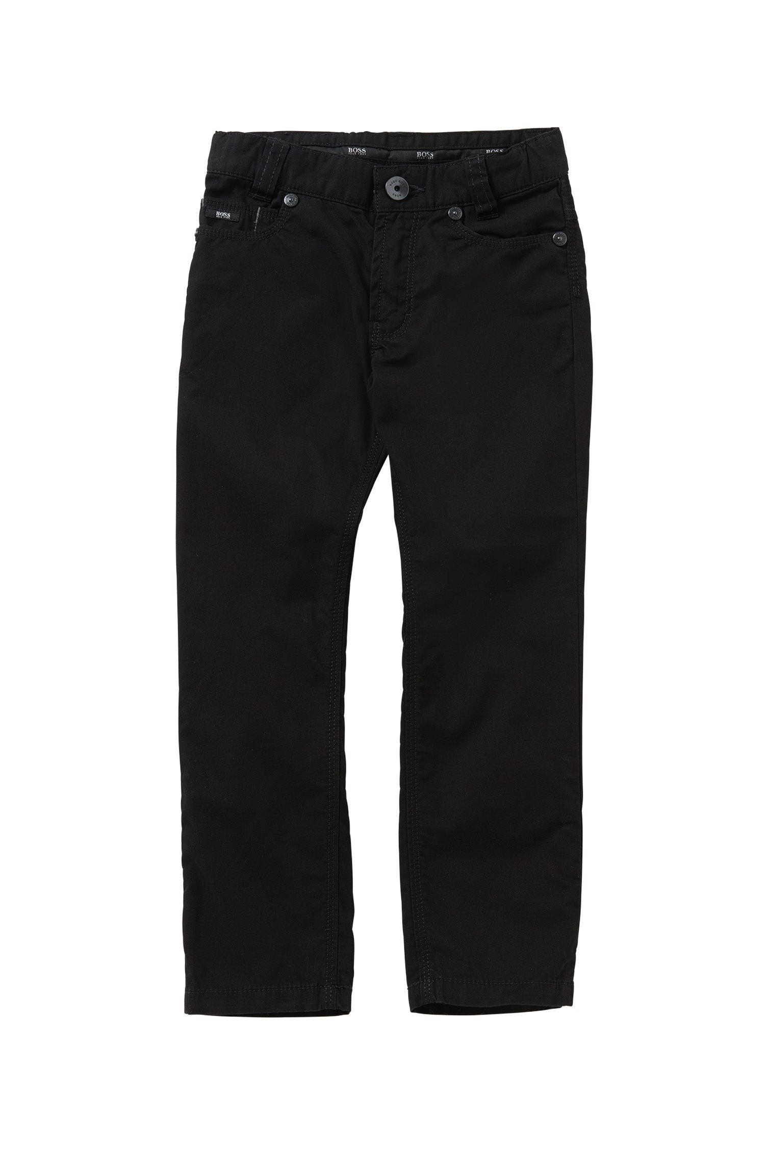 Unifarbene Slim-Fit Kids-Hose aus Baumwolle: 'J24393'