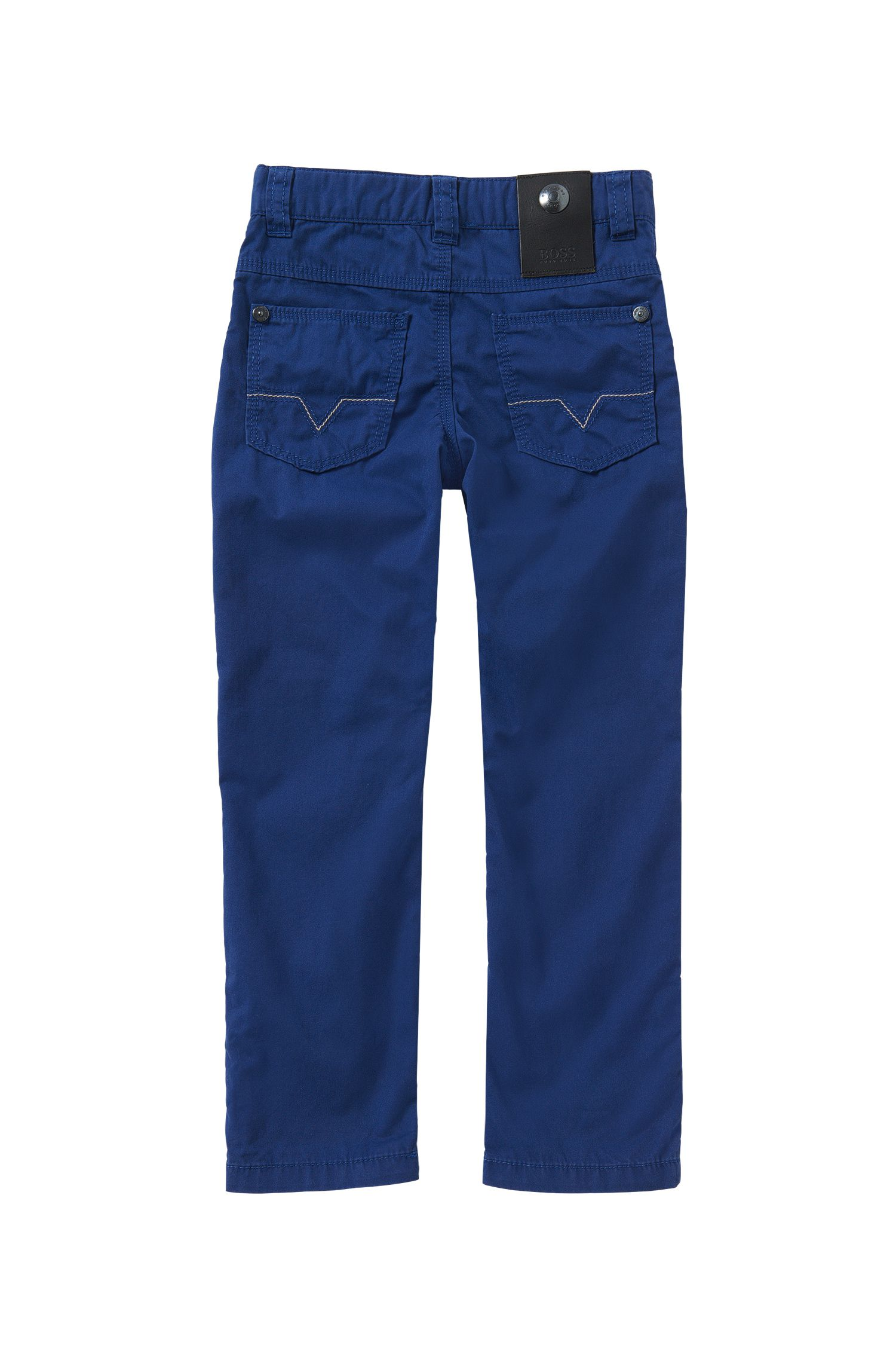 Unifarbene Slim-Fit Kids-Hose aus Baumwolle: 'J24393'