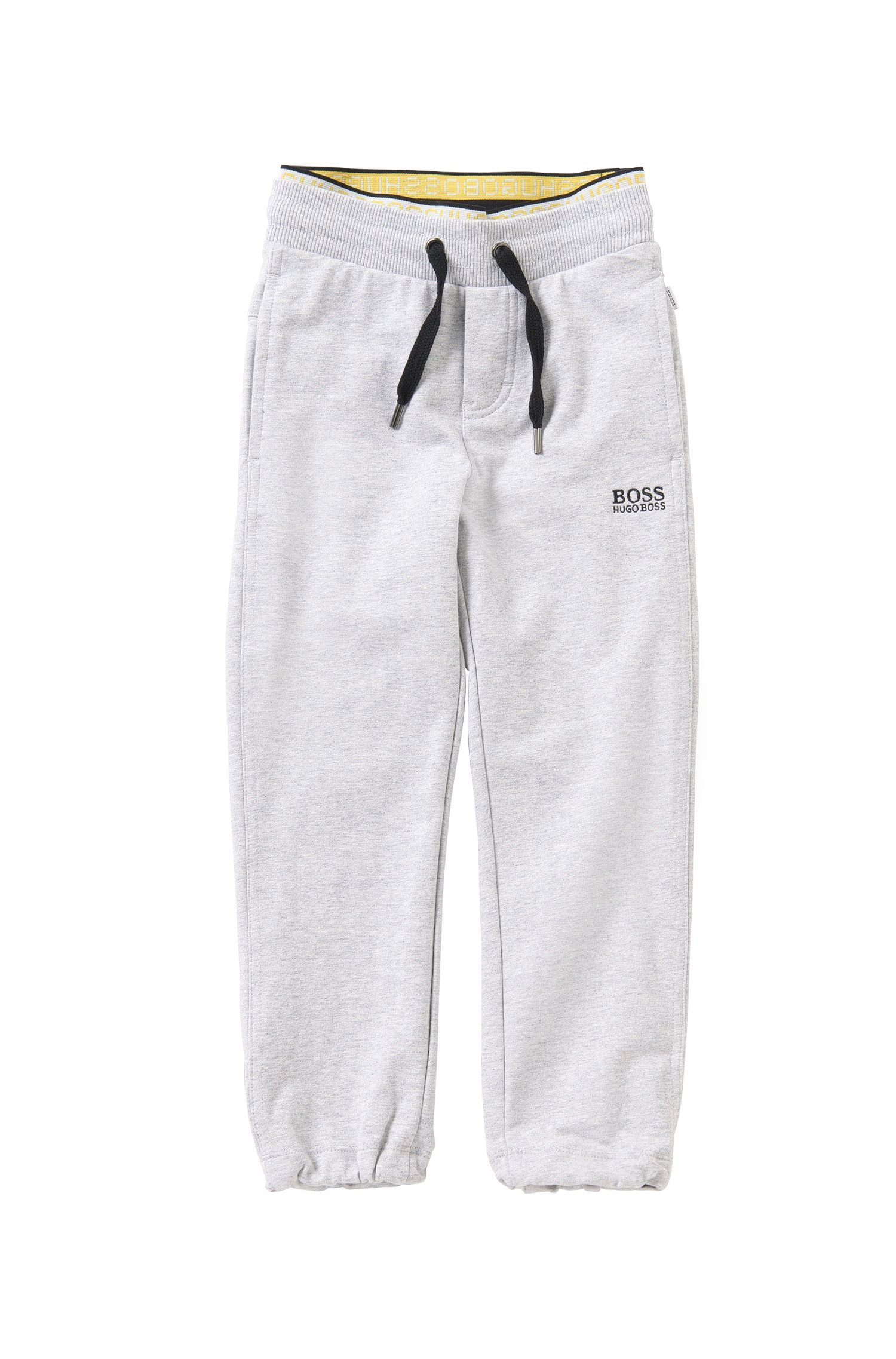 Kids' tracksuit bottoms in stretch cotton with a drawstring waistband: 'J24398'