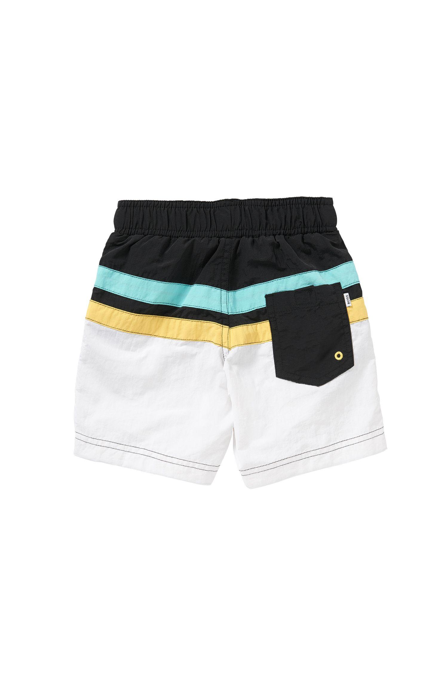 Short de bain à rayures pour enfant à poches à ouverture latérale: «J24404»