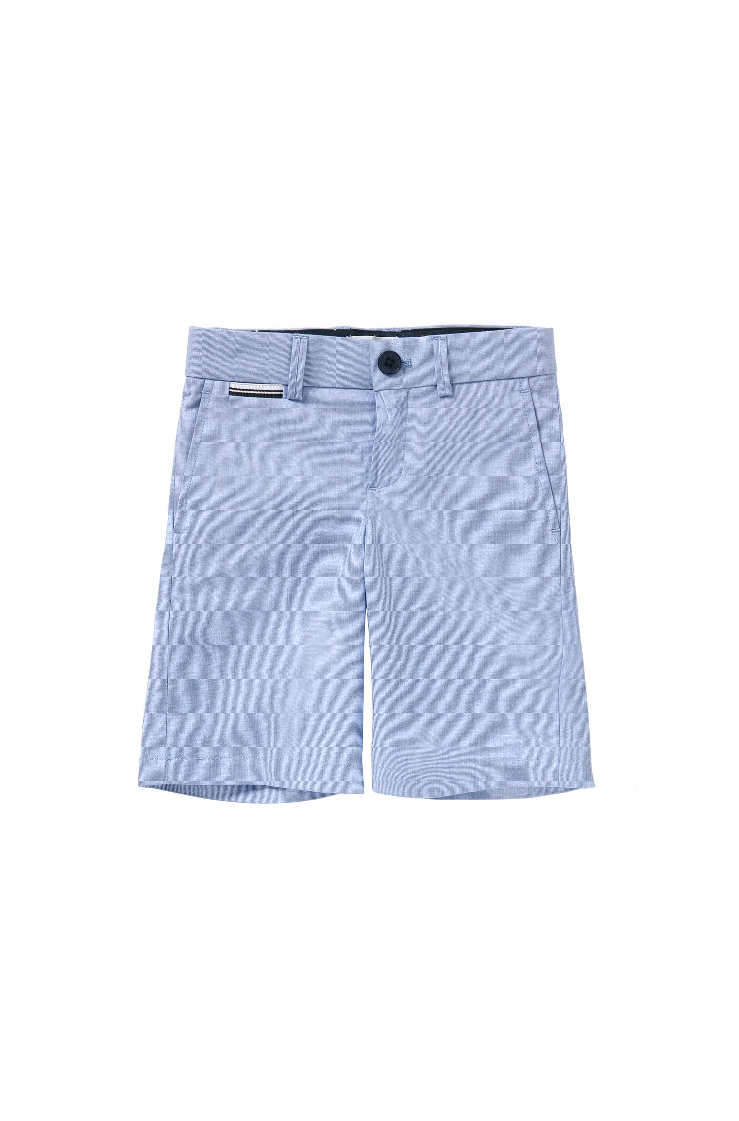 Kids' shorts in cotton with striped detail: 'J24411'
