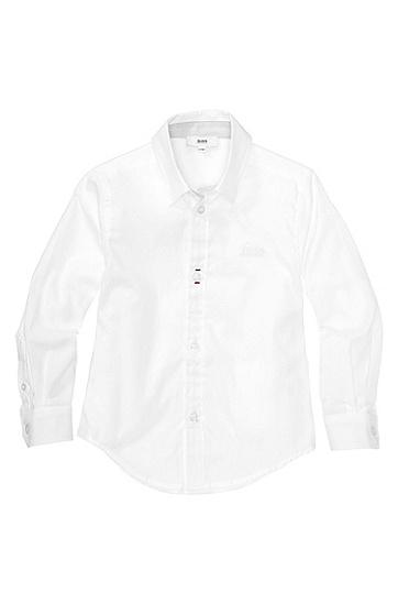 Kids-Hemd ´J25712` aus Baumwolle, Weiß