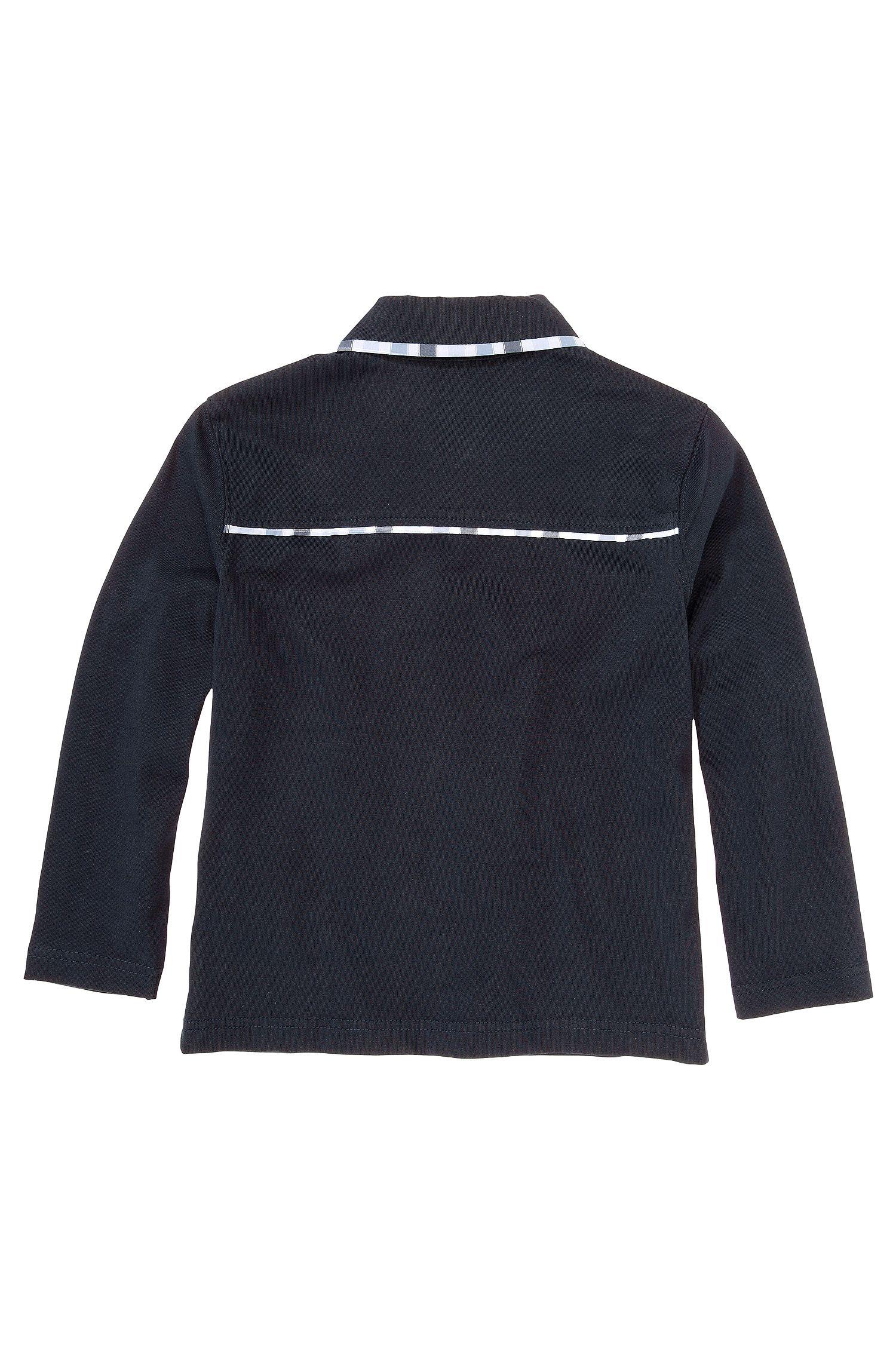 Polo à manches longues pour enfant «J25726» en coton