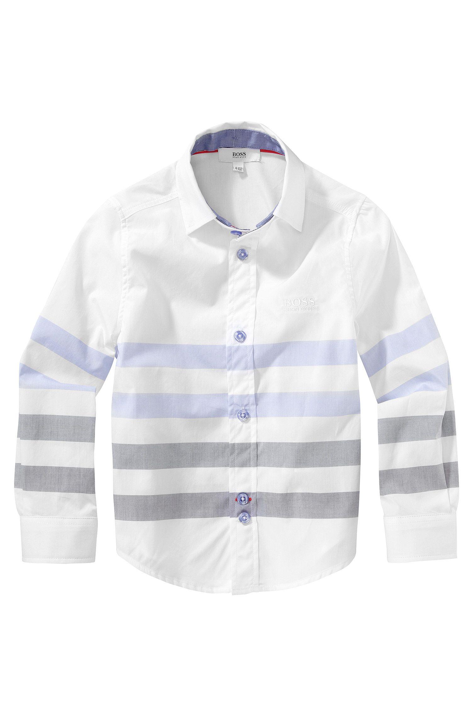 Chemise pour enfant «J25779» avec col italien
