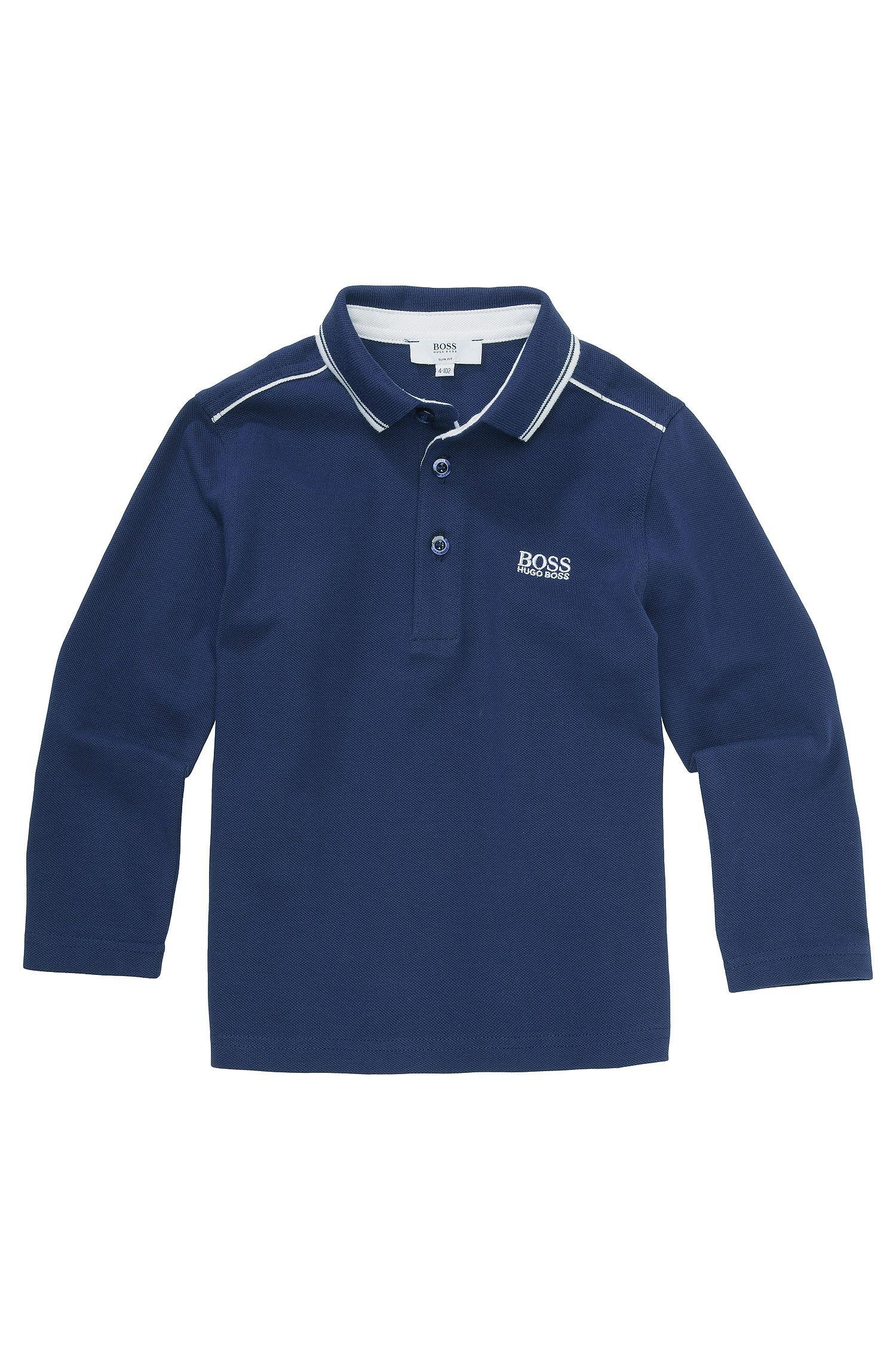 Polo à manches longues pour enfant «J25810» en coton