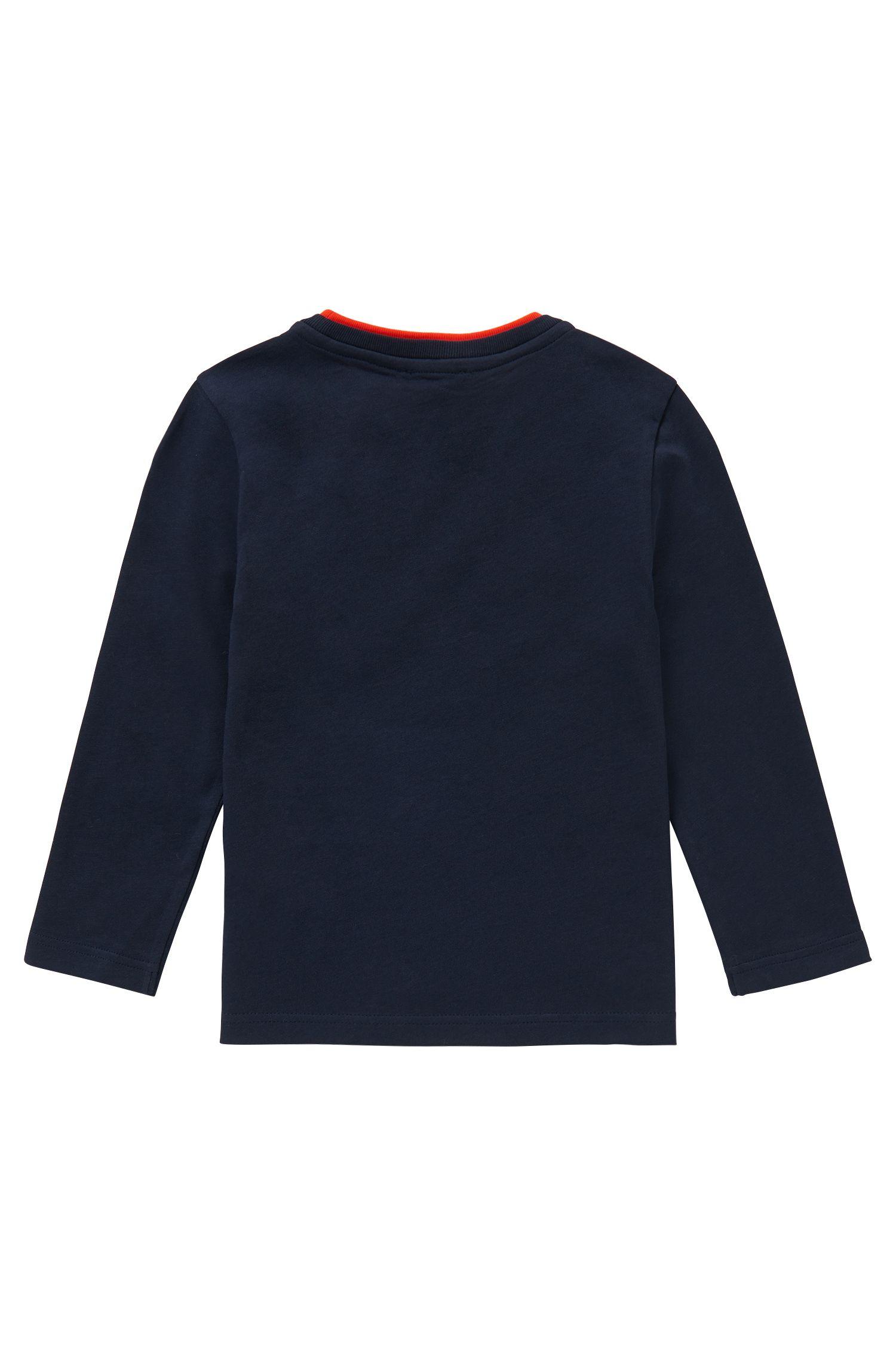 T-shirt à manches longues en coton imprimé: «J25842»