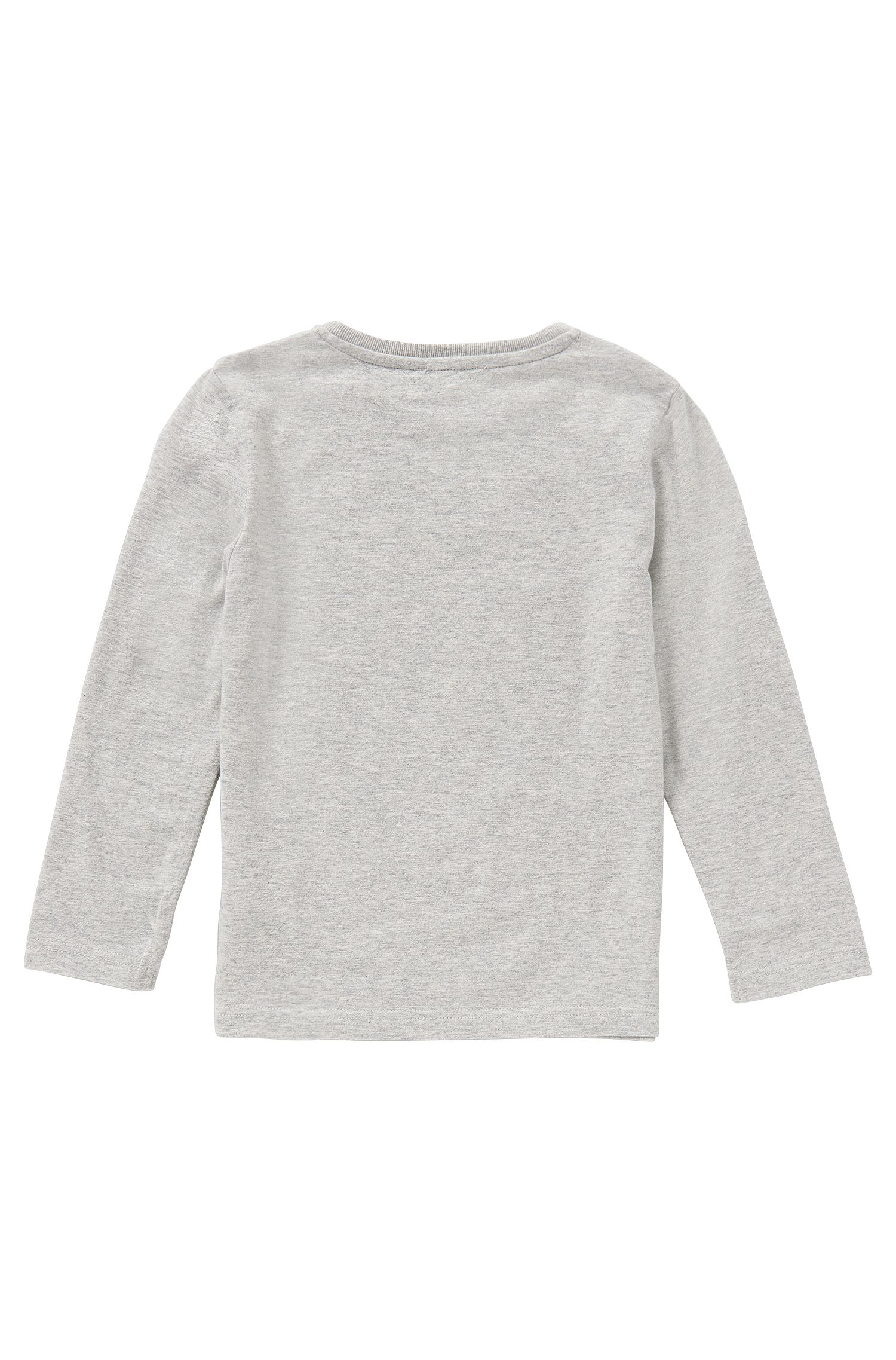 T-shirt à manches longues en coton imprimé: «J25846»