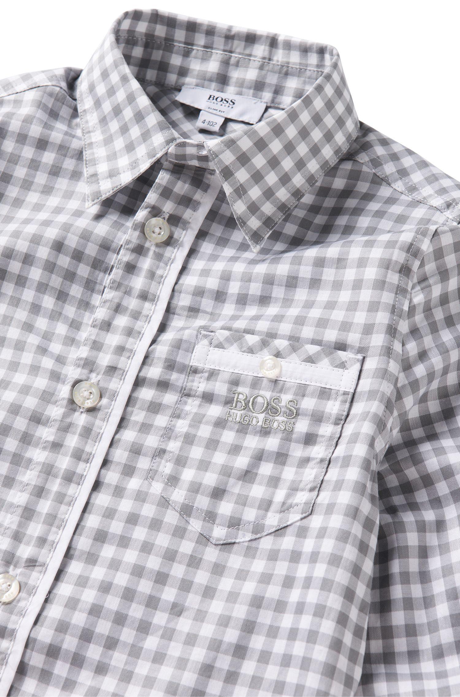 Chemise pour enfant en coton: «J25869»