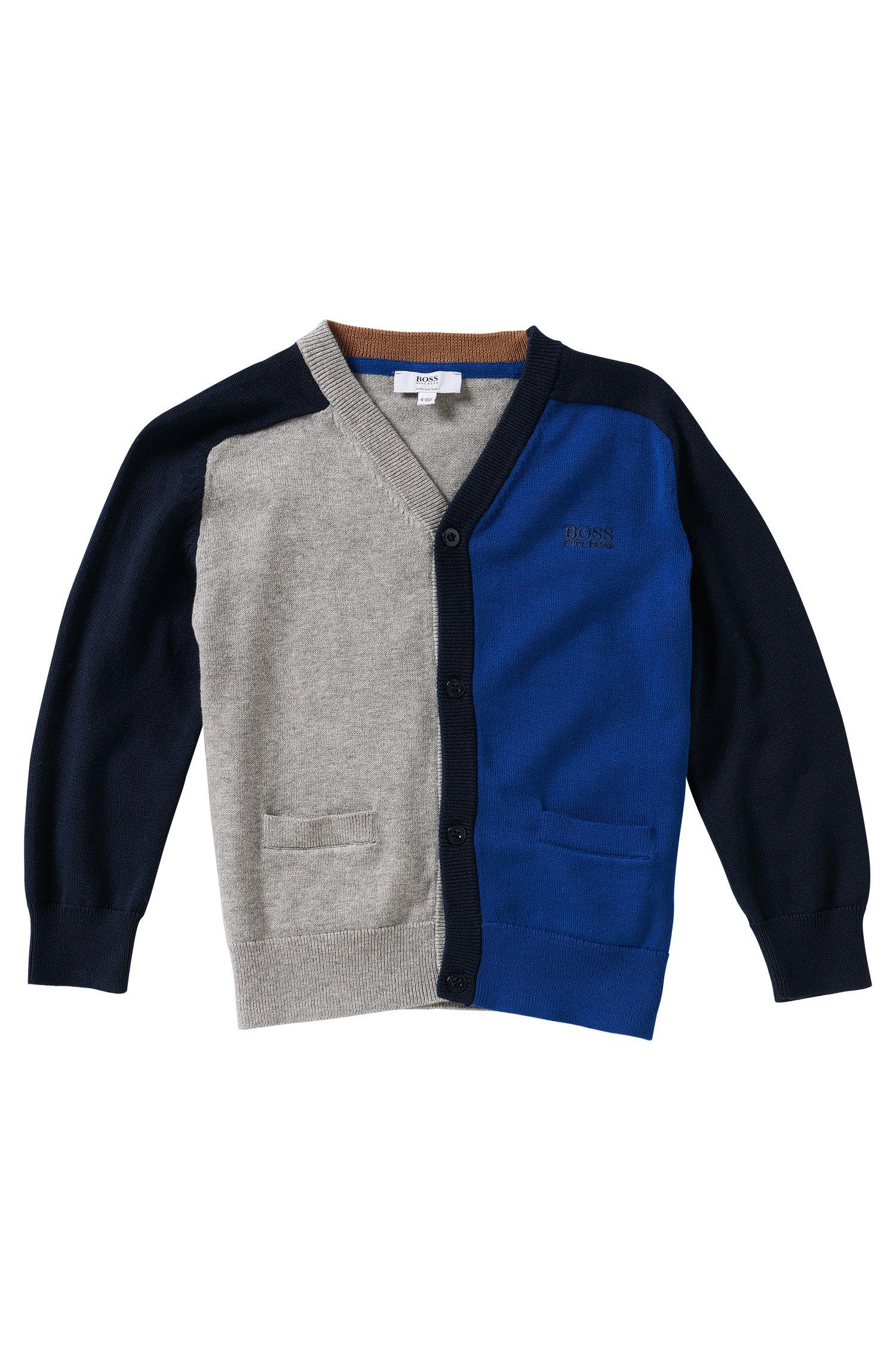 Cardigan en maille pour enfant en coton: «J25879»