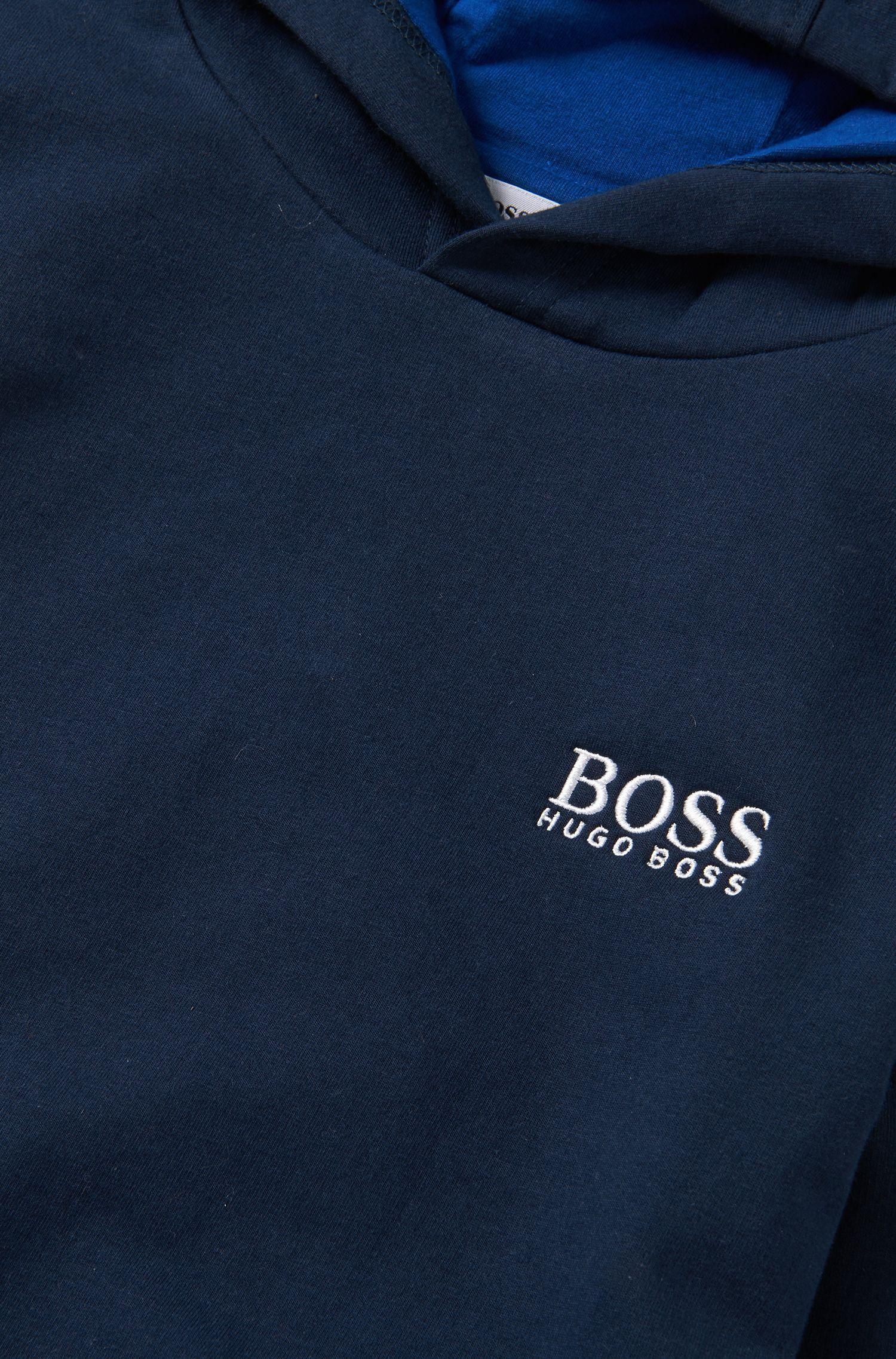 Kindersweatshirt met capuchon van een elastische katoenmix: 'J25888'