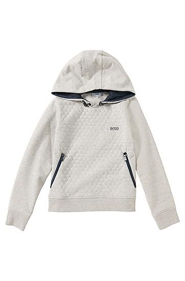 Kids Sweatshirt aus Baumwoll-Mix: 'J25889', Hellgrau