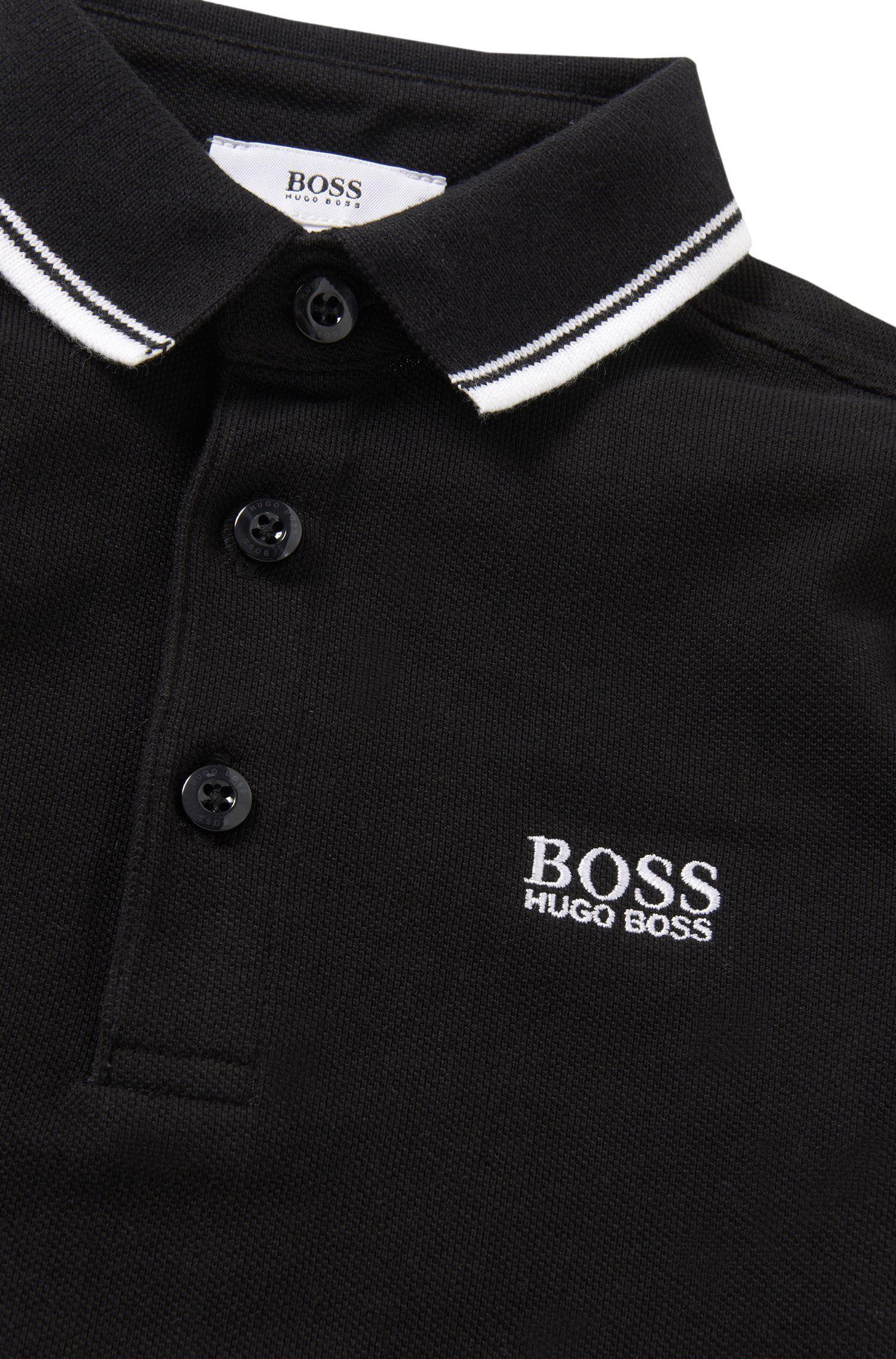 Kids-Poloshirt aus Baumwolle mit Streifen-Details: 'J25910'