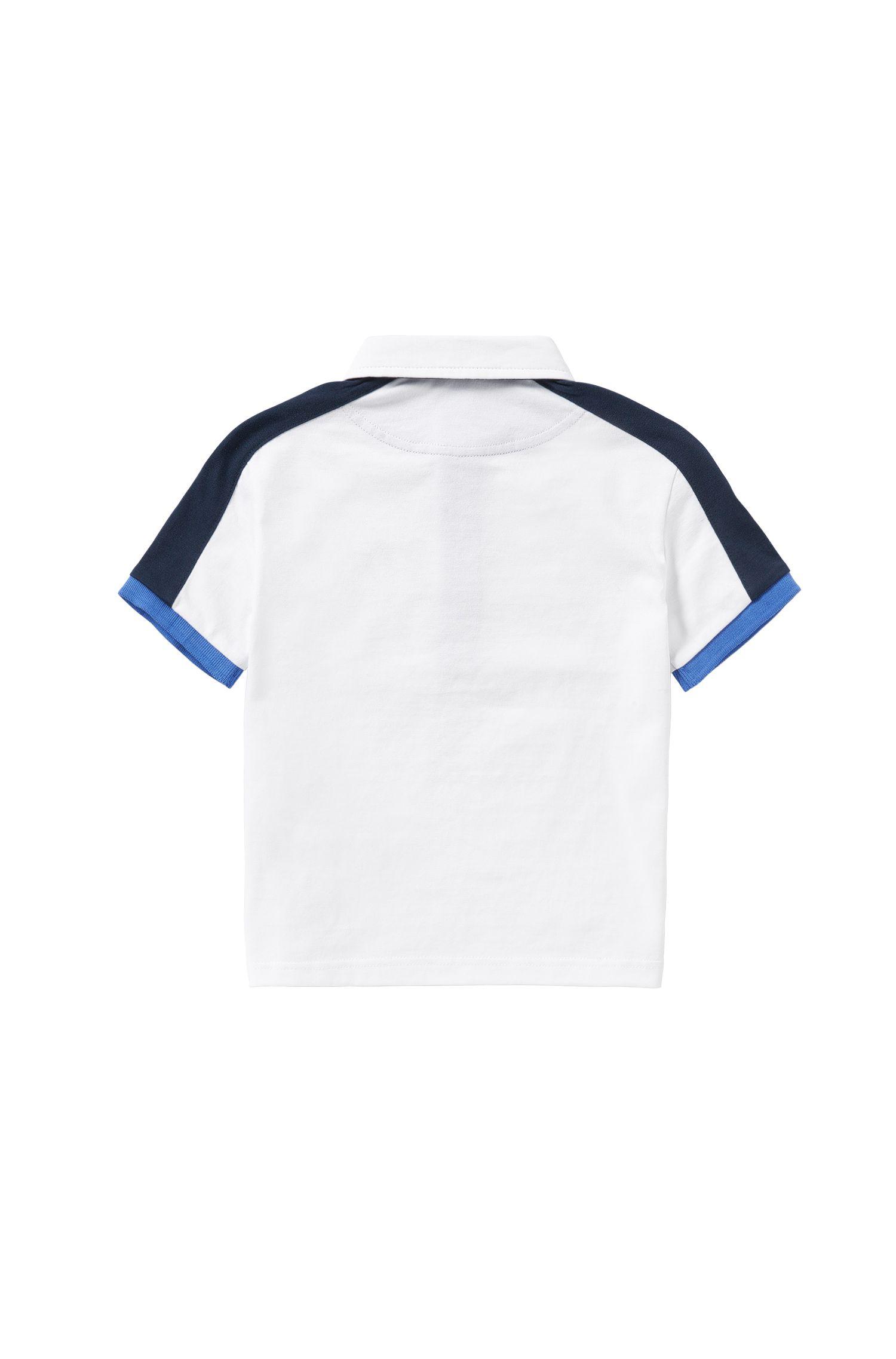 Polo en coton pour enfants avec logo imprimé: «J25911»