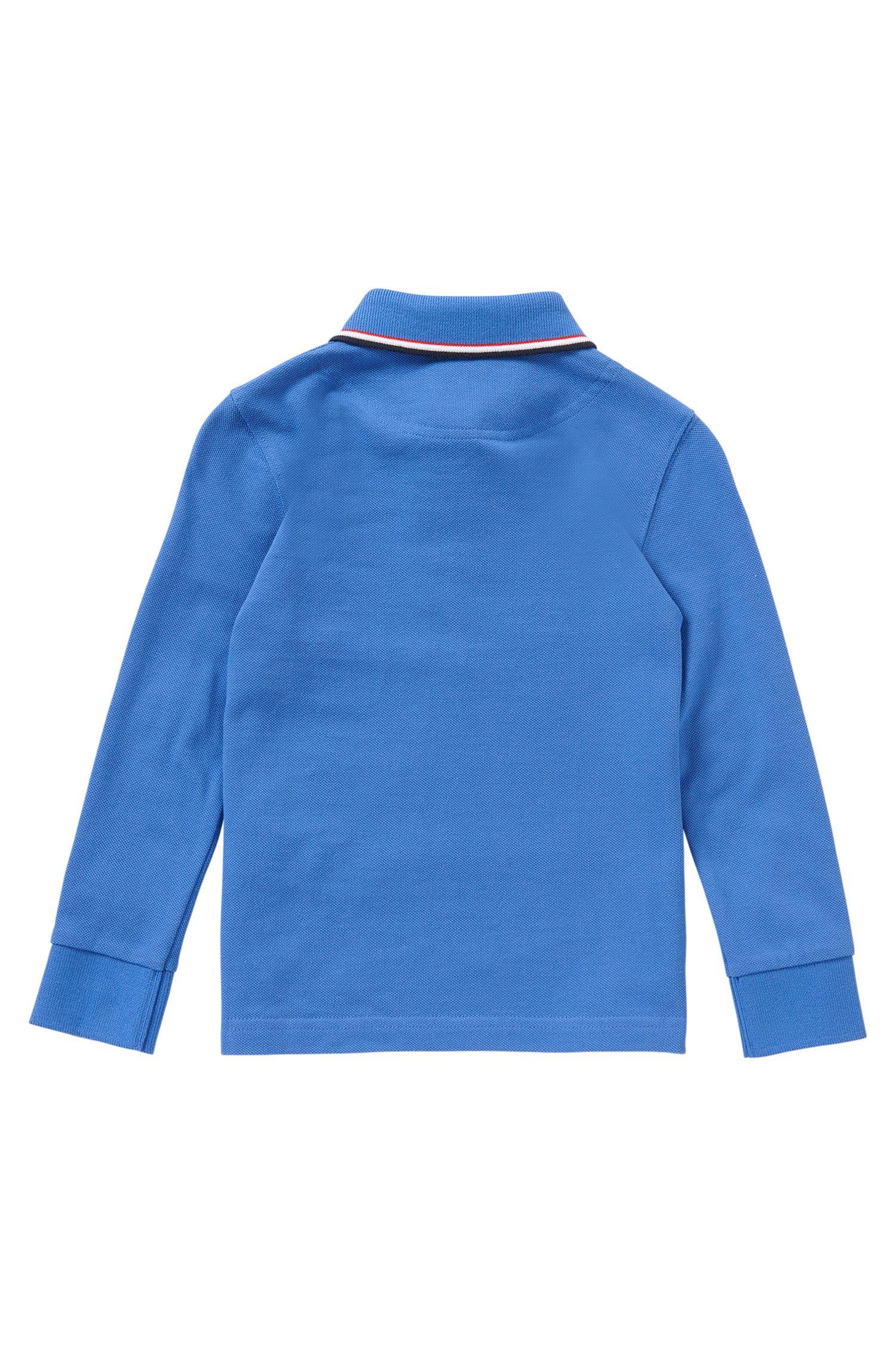 Polo pour enfant à manches longues en coton uni: «J25925»