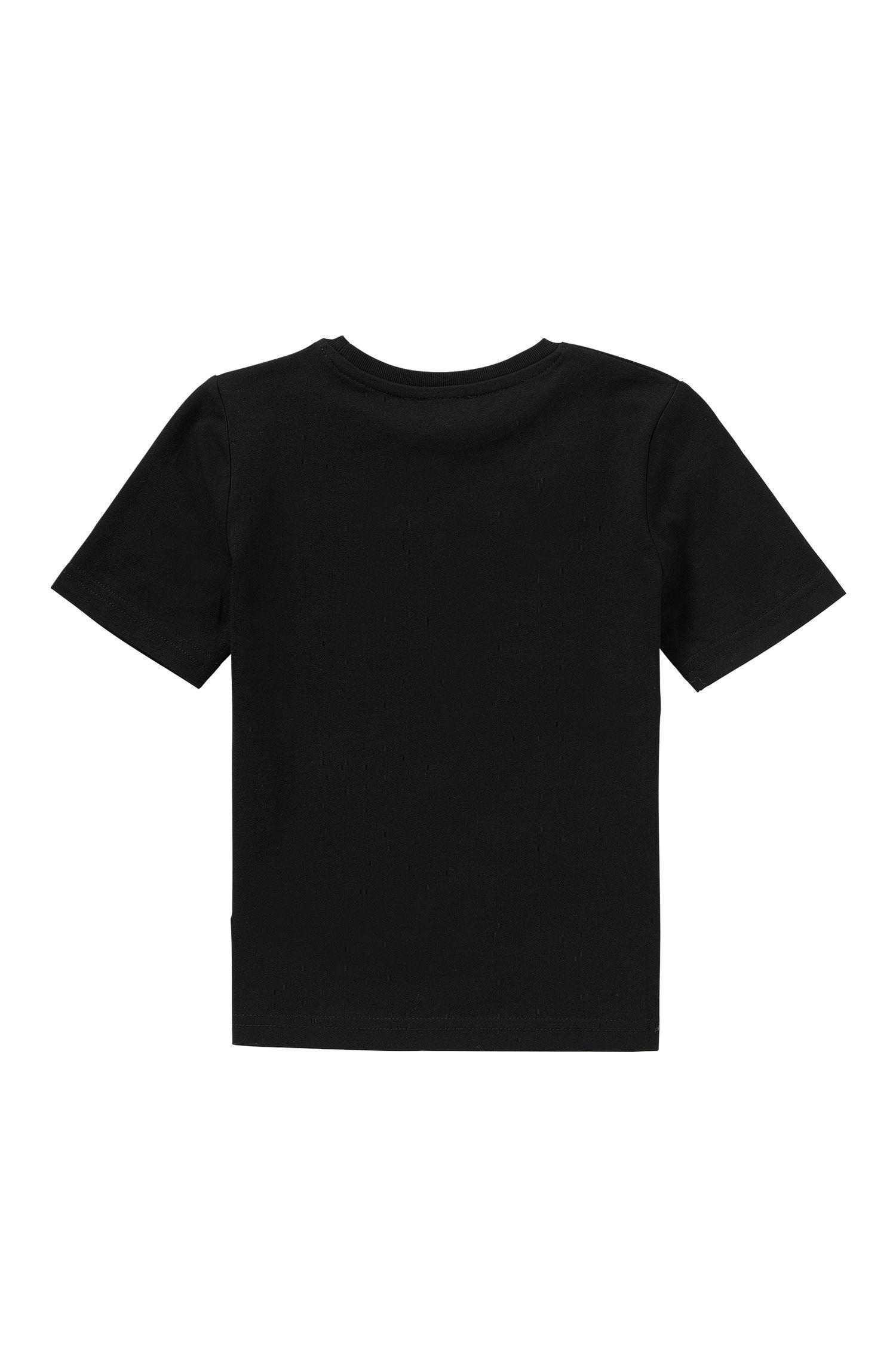 T-shirt imprimé Slim Fit pour enfant en pur coton: «J25929»