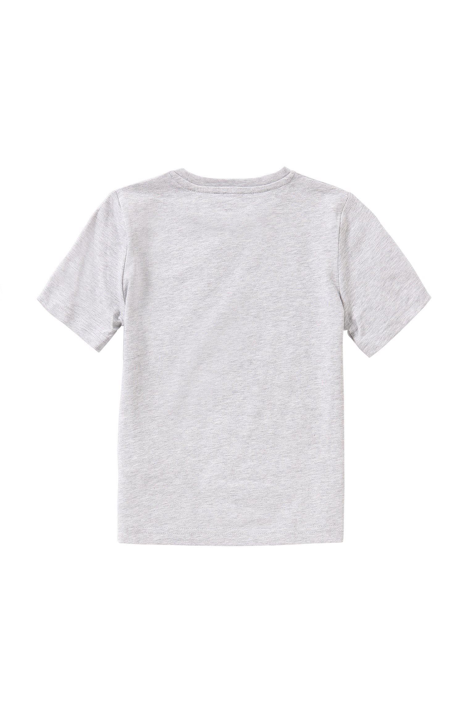 Slim-fit T-shirt voor kinderen, van zuivere katoen met print: 'J25929'