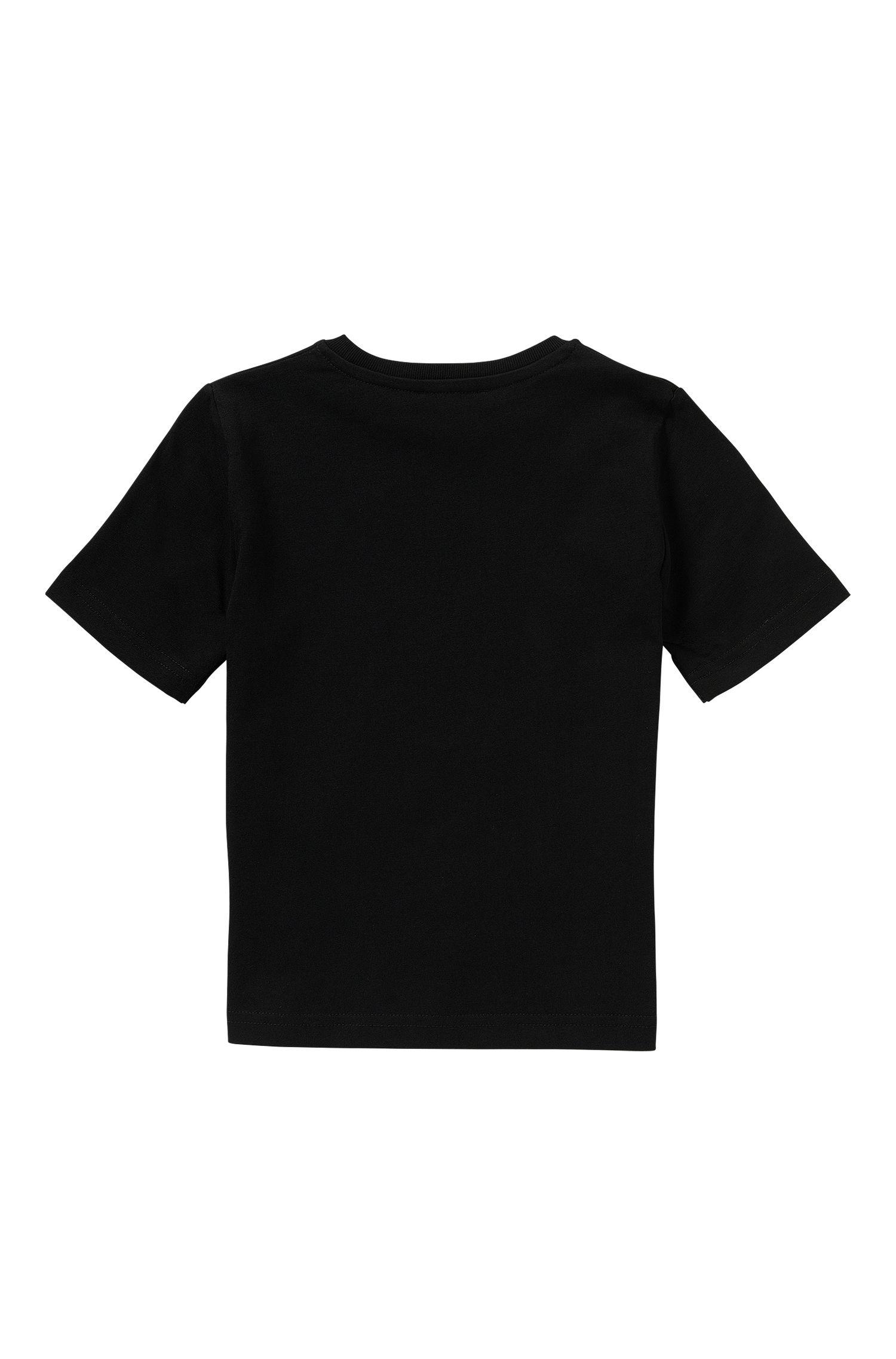 Kids-T-Shirt aus reiner Baumwolle mit Logo-Print: 'J25930'