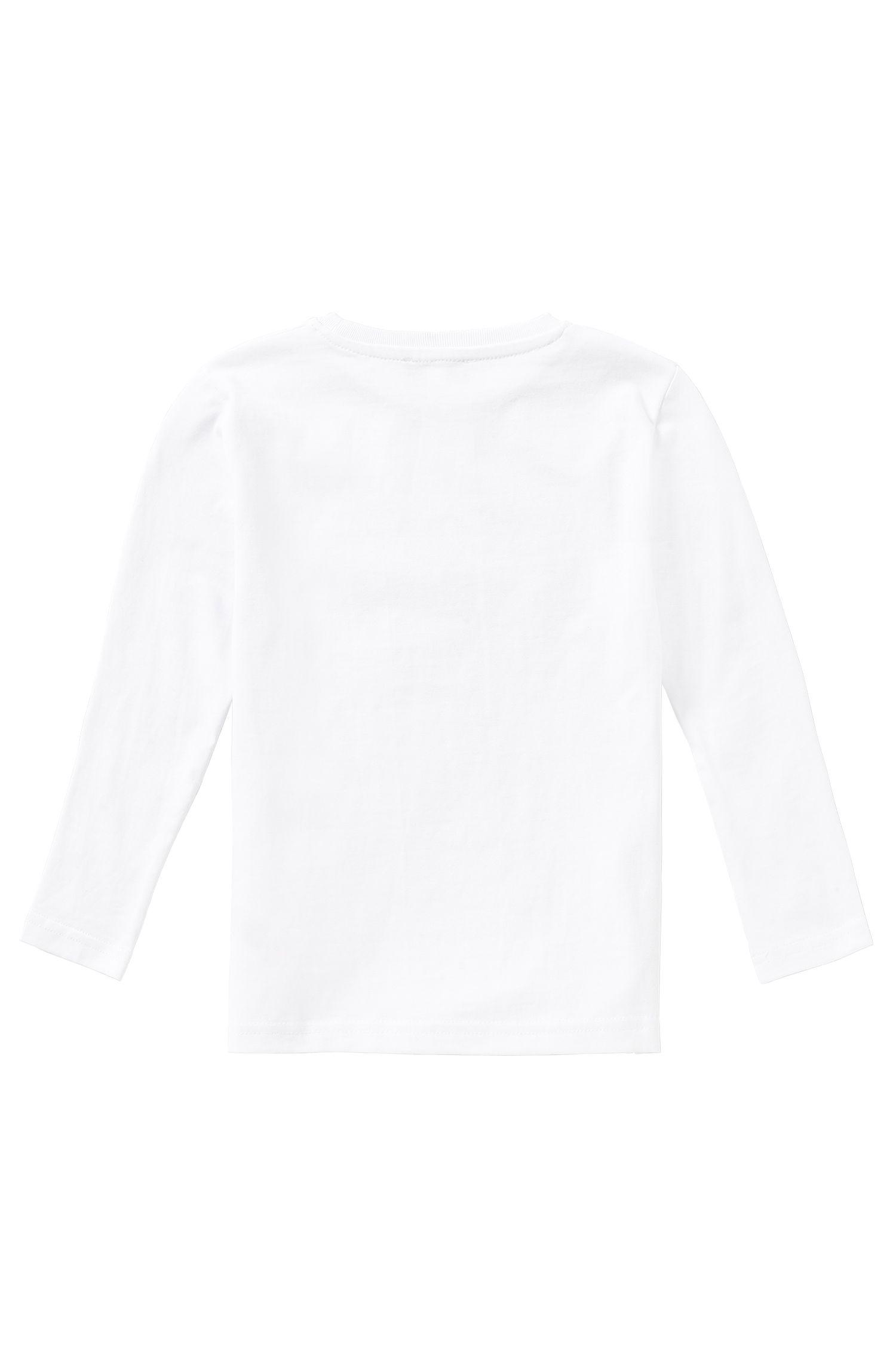 T-shirt à manches longues Slim Fit pour enfant en coton: «J25942»
