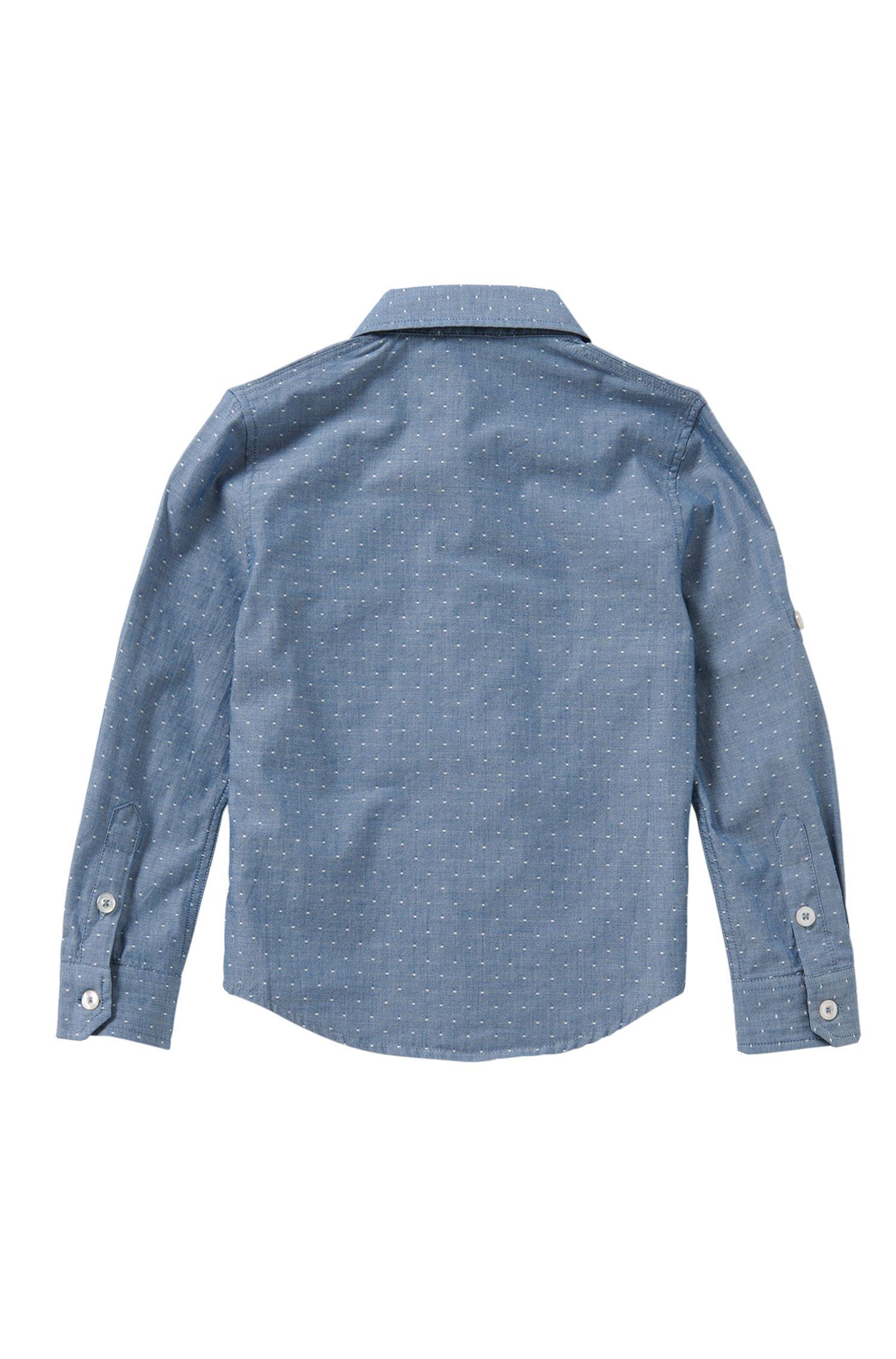 Gepunktetes Slim-Fit Hemd aus reiner Baumwolle: 'J25951'