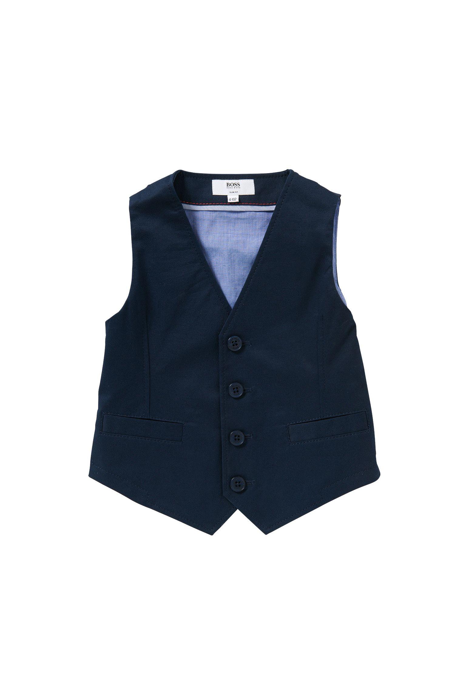 Gilet pour enfant en coton extensible: «J25953»